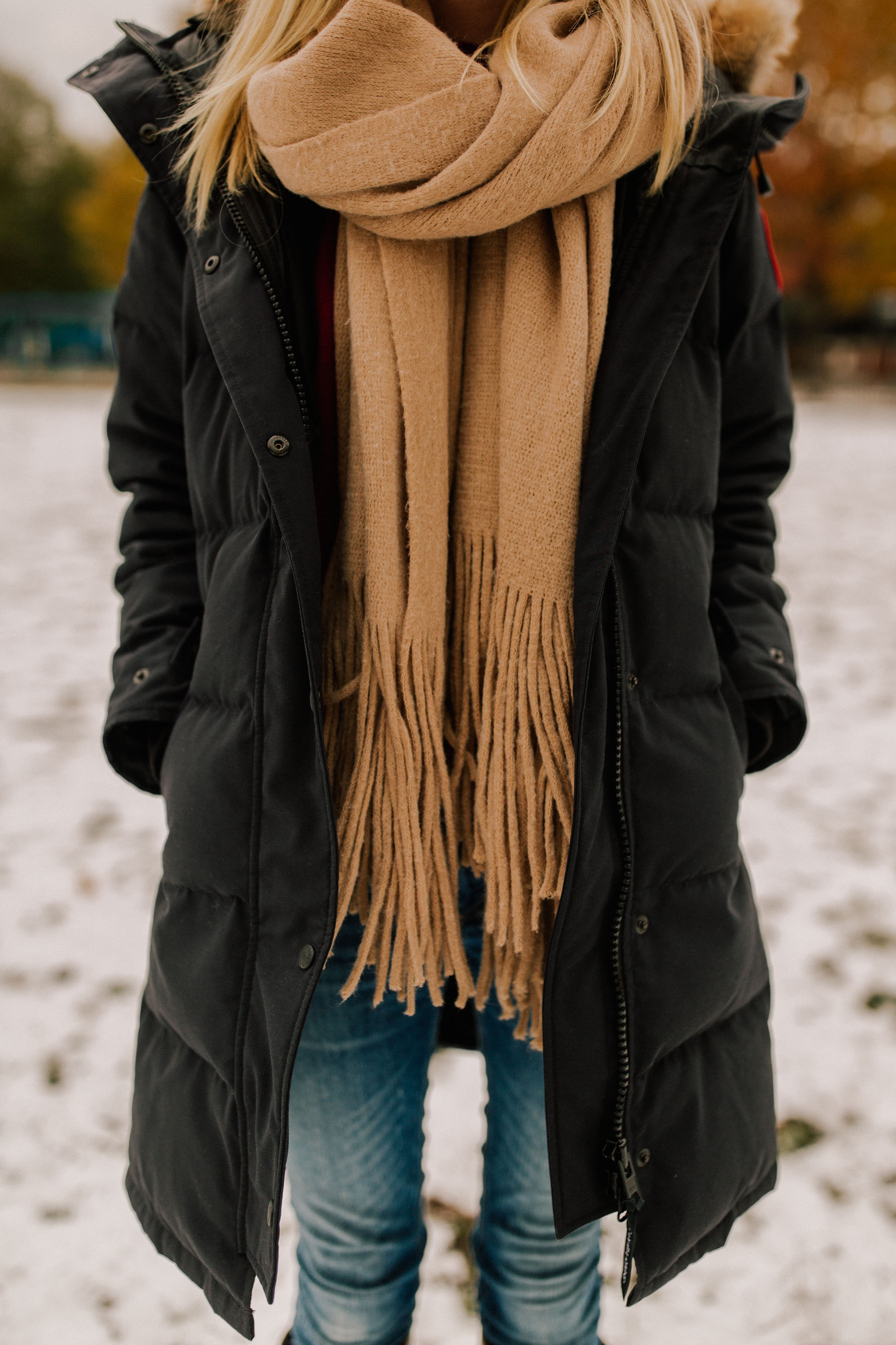 Do you have a Canada Goose jacket? What's your experience been like? Do you have any other tips for staying warm in the freezing cold?