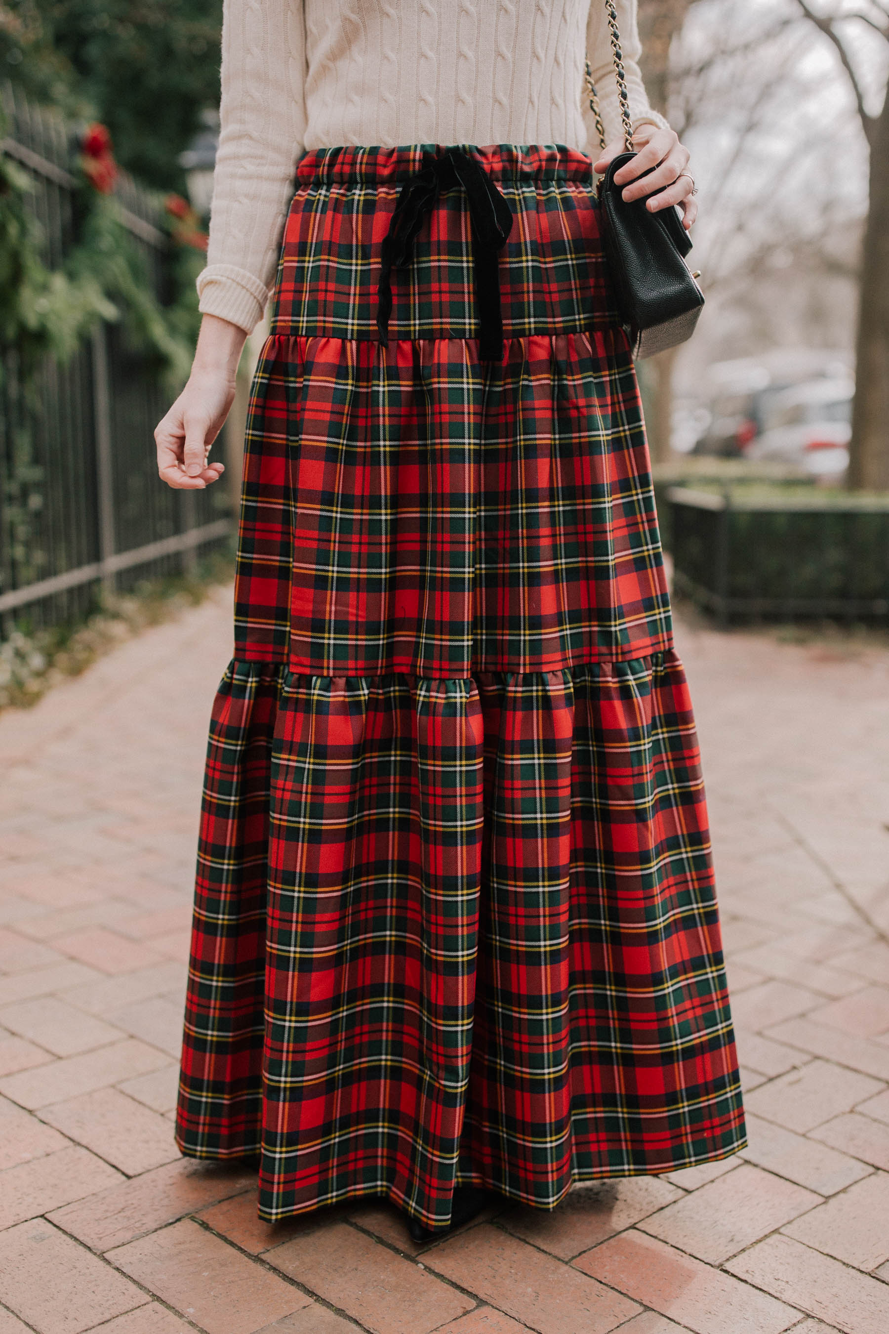 30bbfb19e36 Tiered Tartan Maxi Skirt - Kelly in the City