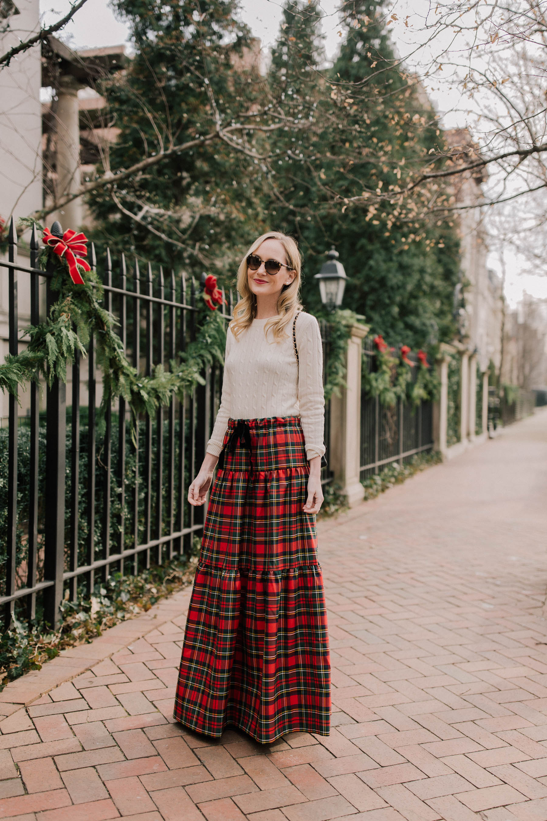 cd101d1252 Tiered Tartan Maxi Skirt - Kelly in the City