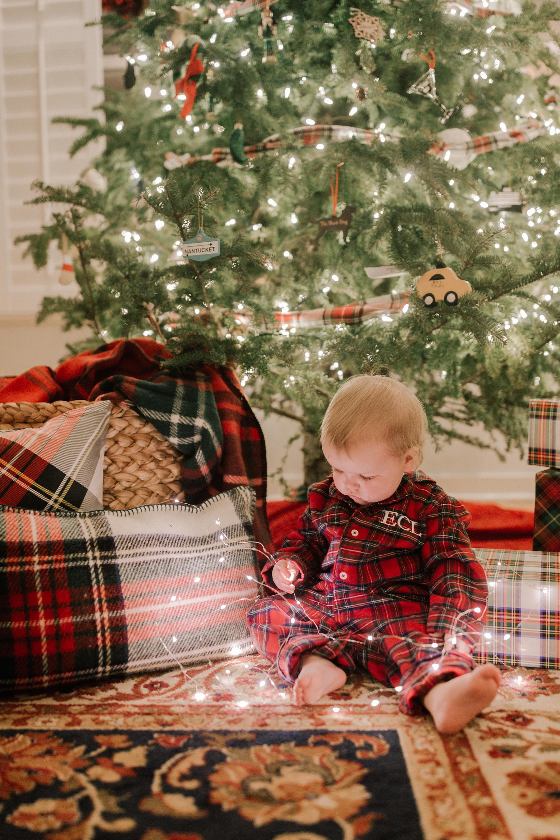 shop the post - Tartan Plaid Christmas Decor