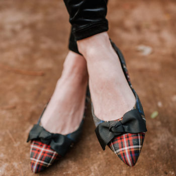 16 Pairs of Plaid Holiday Shoes