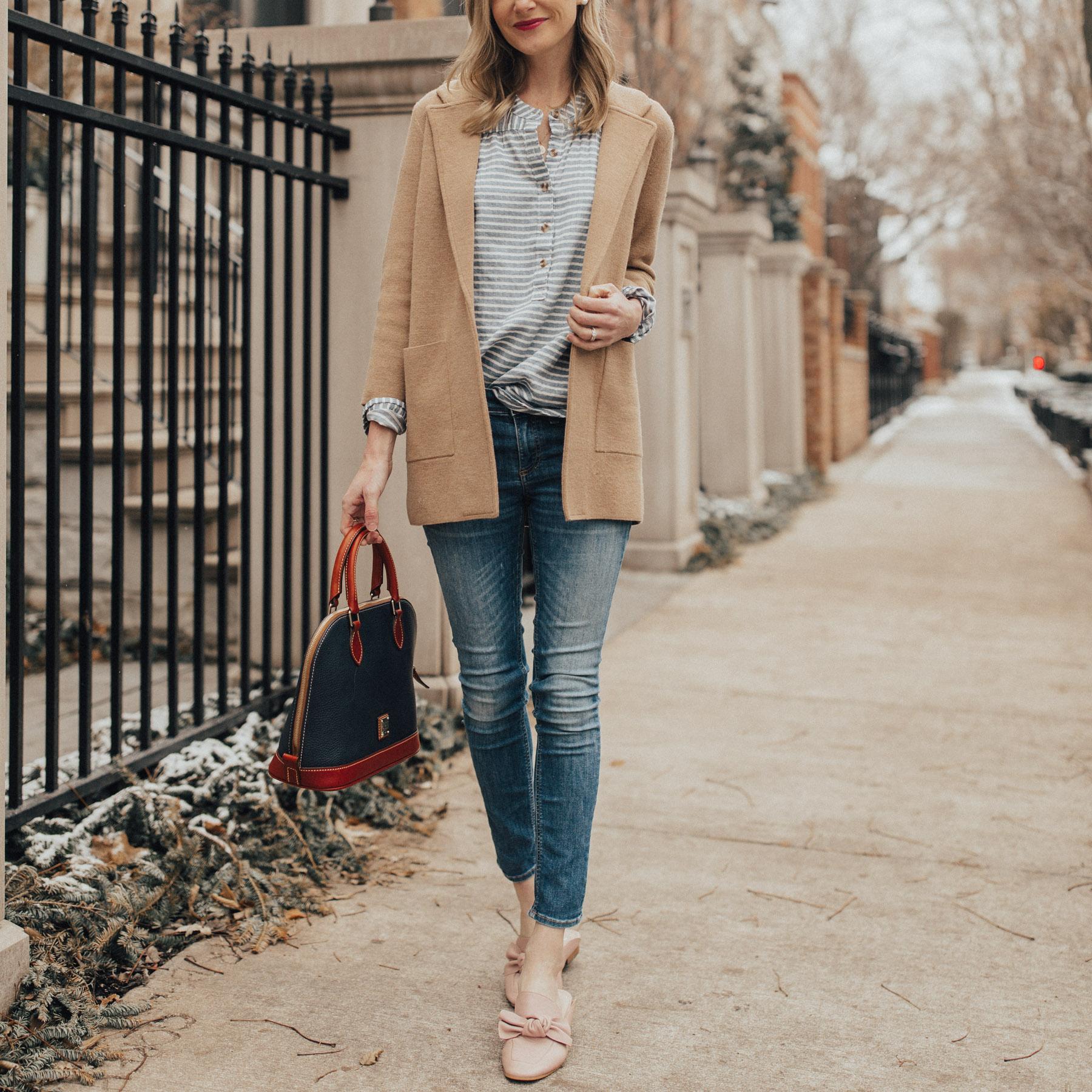 Why I Went Darker A Jcrew Sweater Blazer Kelly In The City