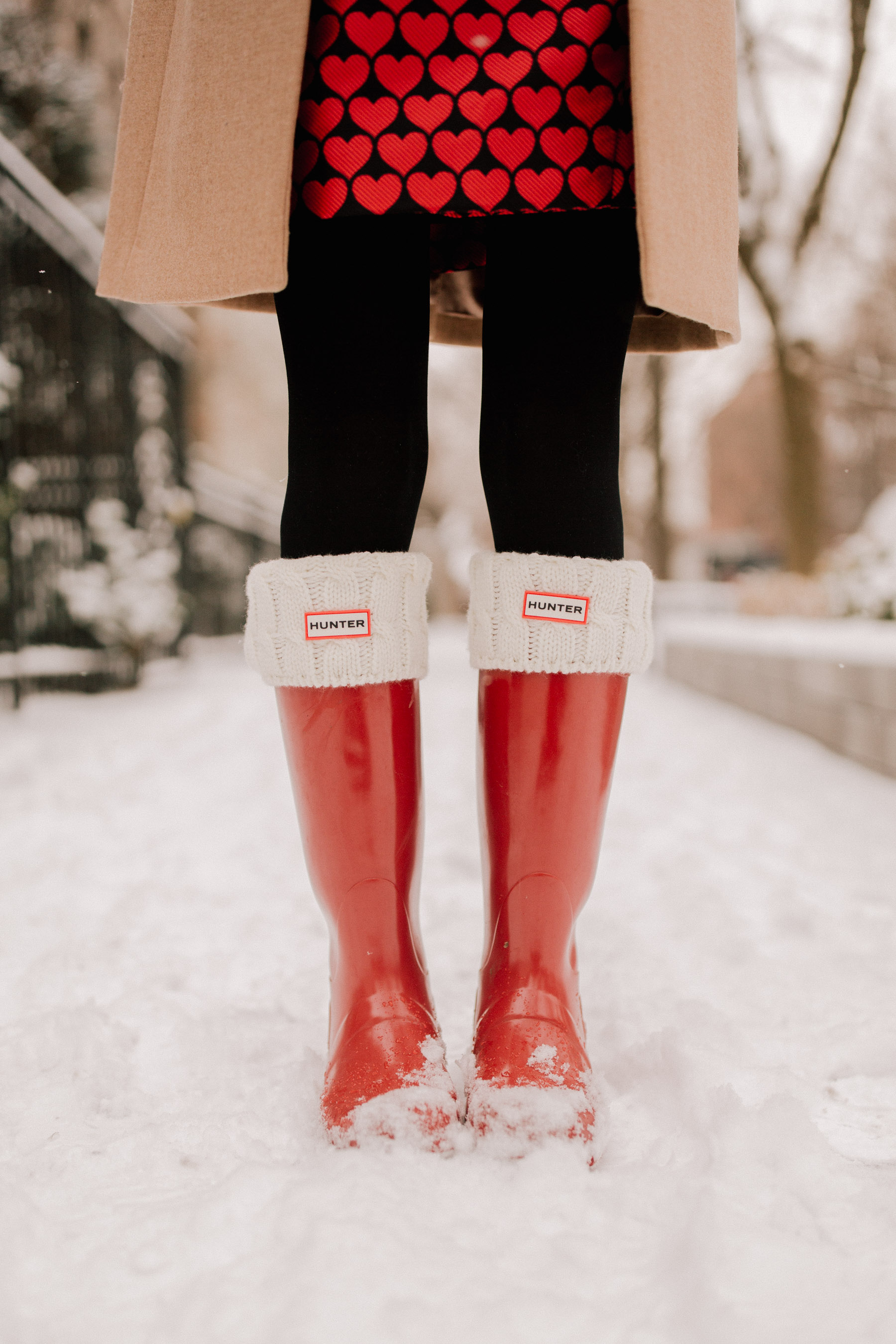 Kelly in the City - Hunter Boots / Black Tights