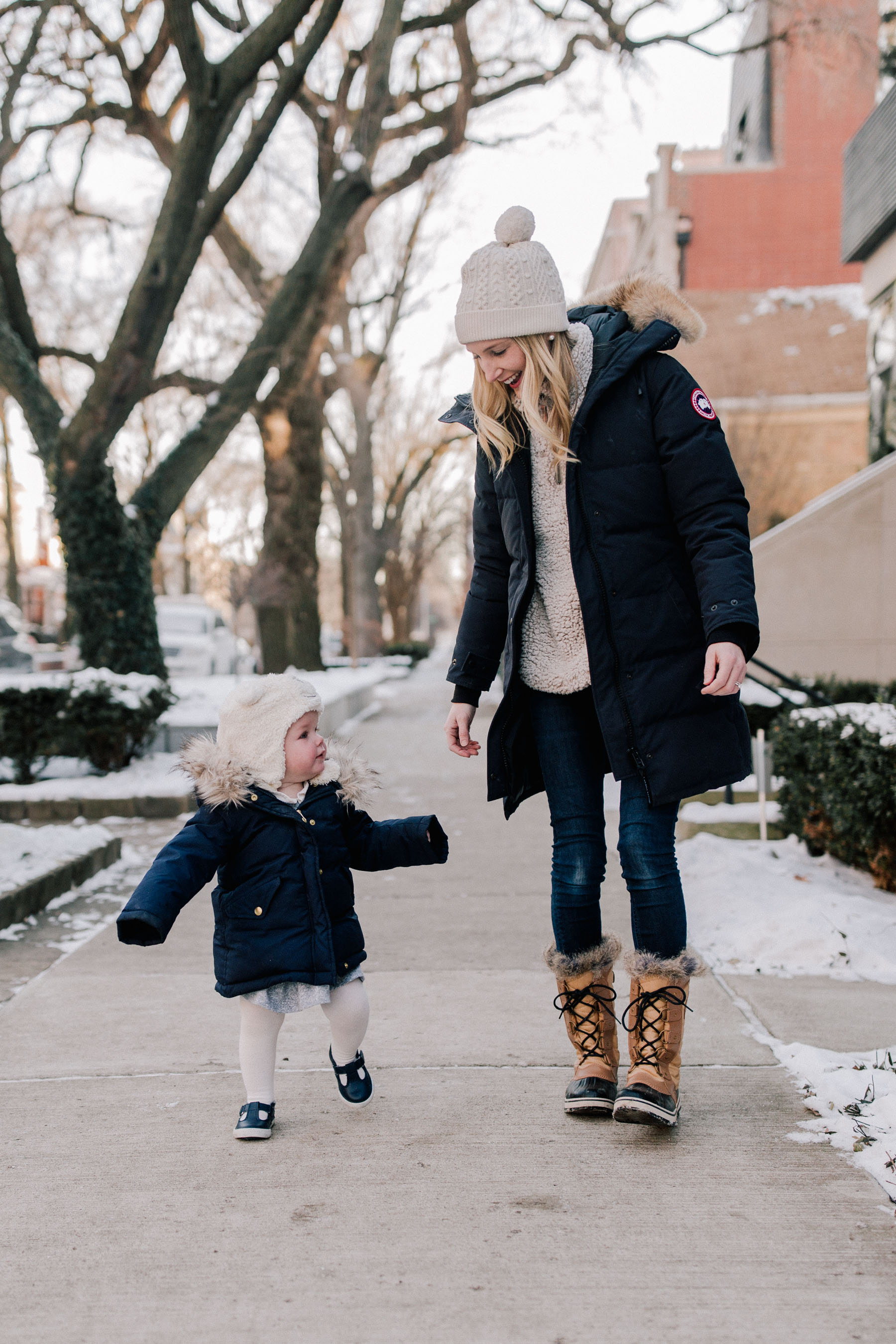 Cold Weather Outfits for Mom & Daughter
