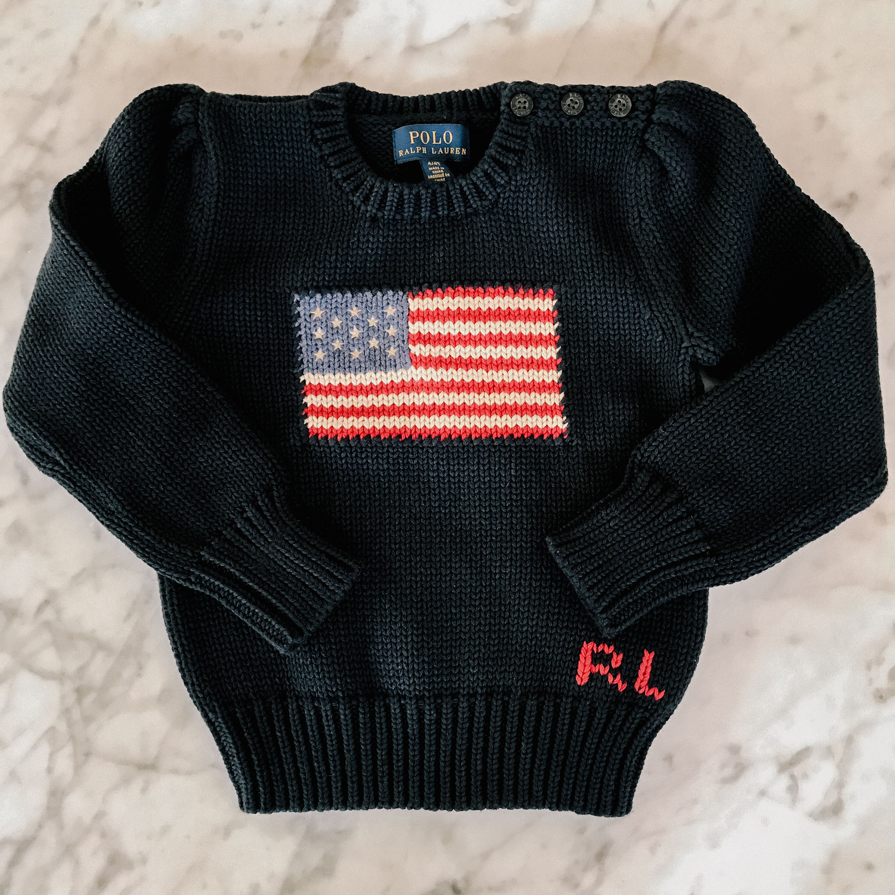 37ff5604d American Flag Sweater (This runs extremely small! Emma has a 4T.)