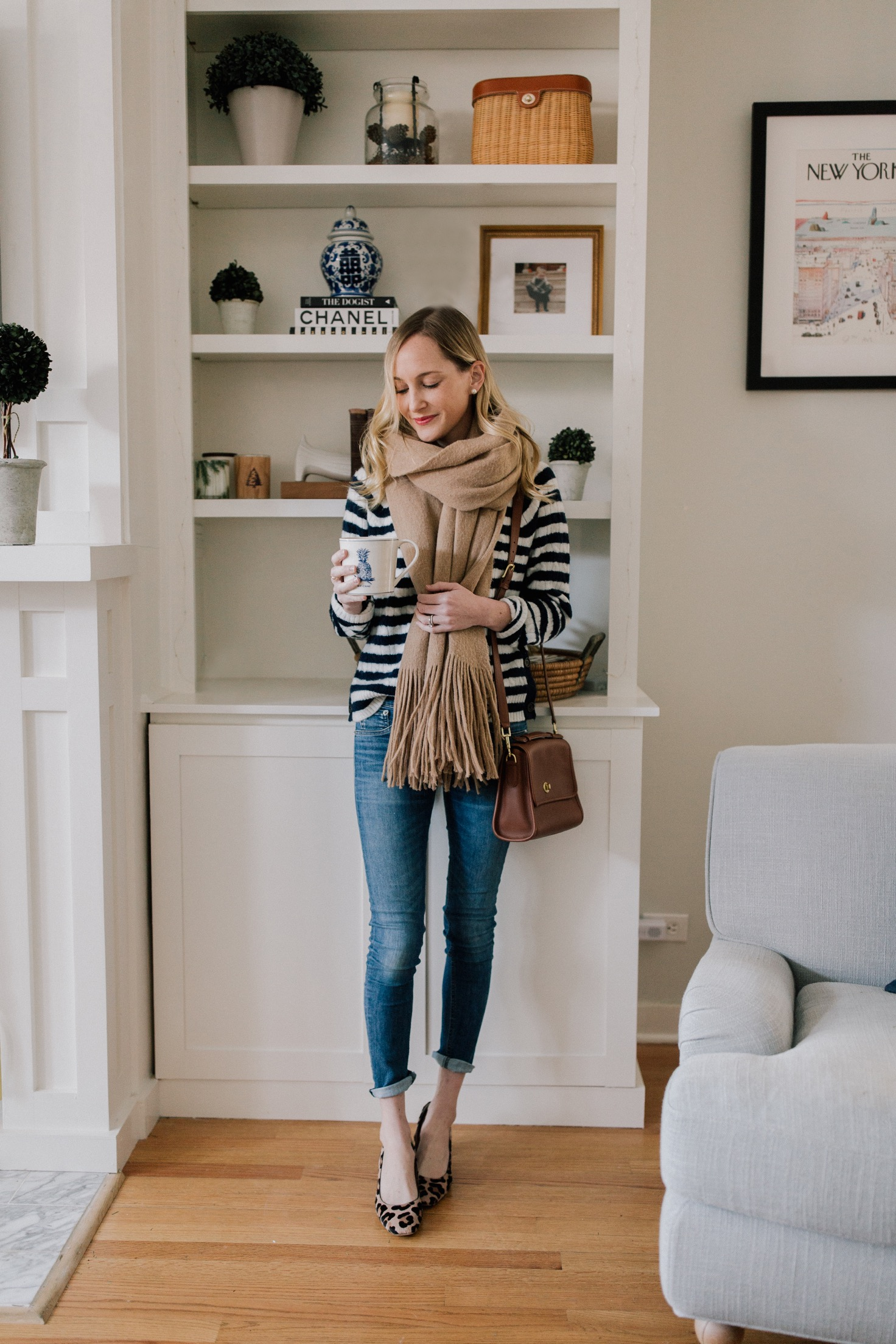 Favorite Sweater Soft Navy Striped Sweater Kelly In The