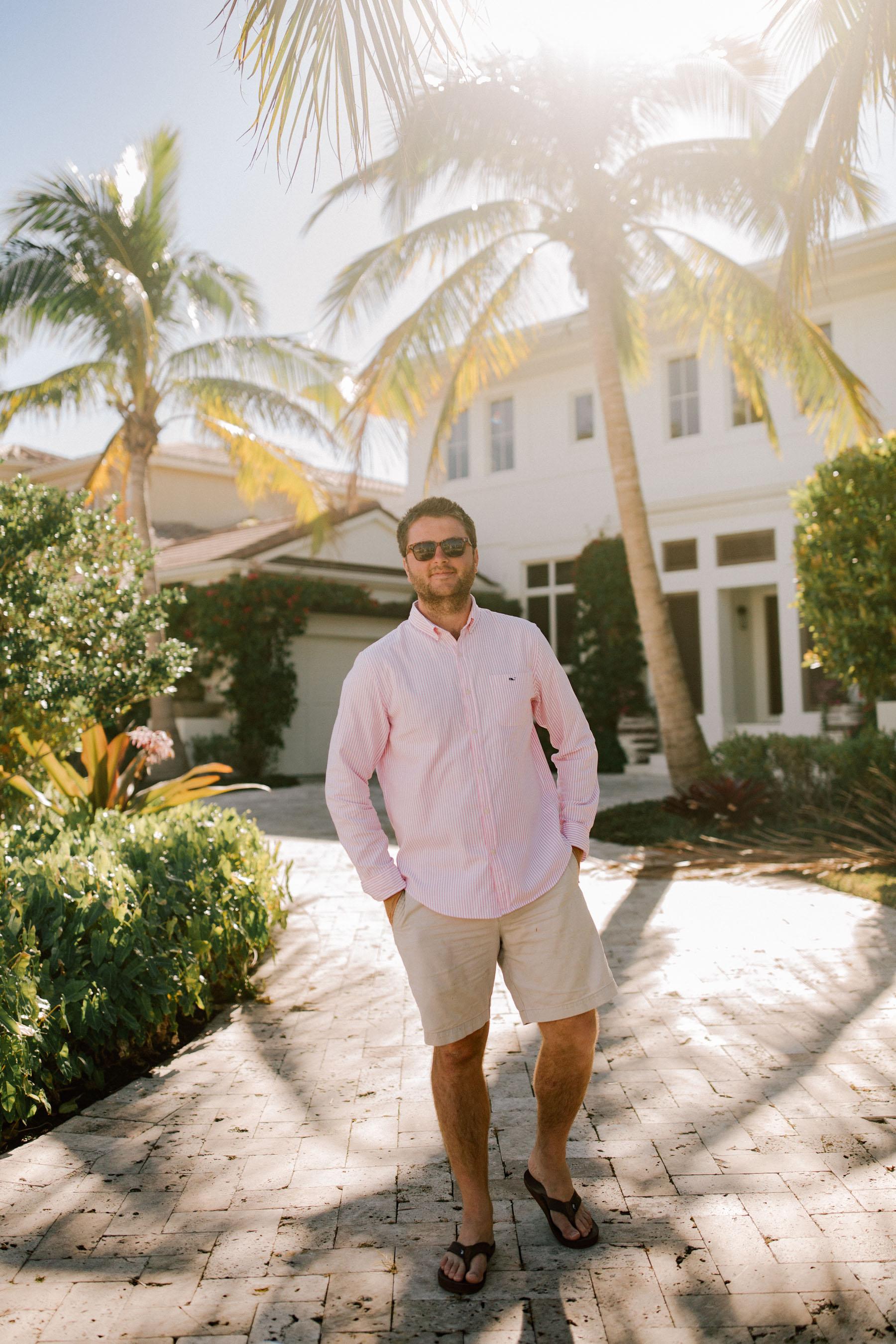 Mitch Larkin wearing Vineyard Vines in Naples Florida