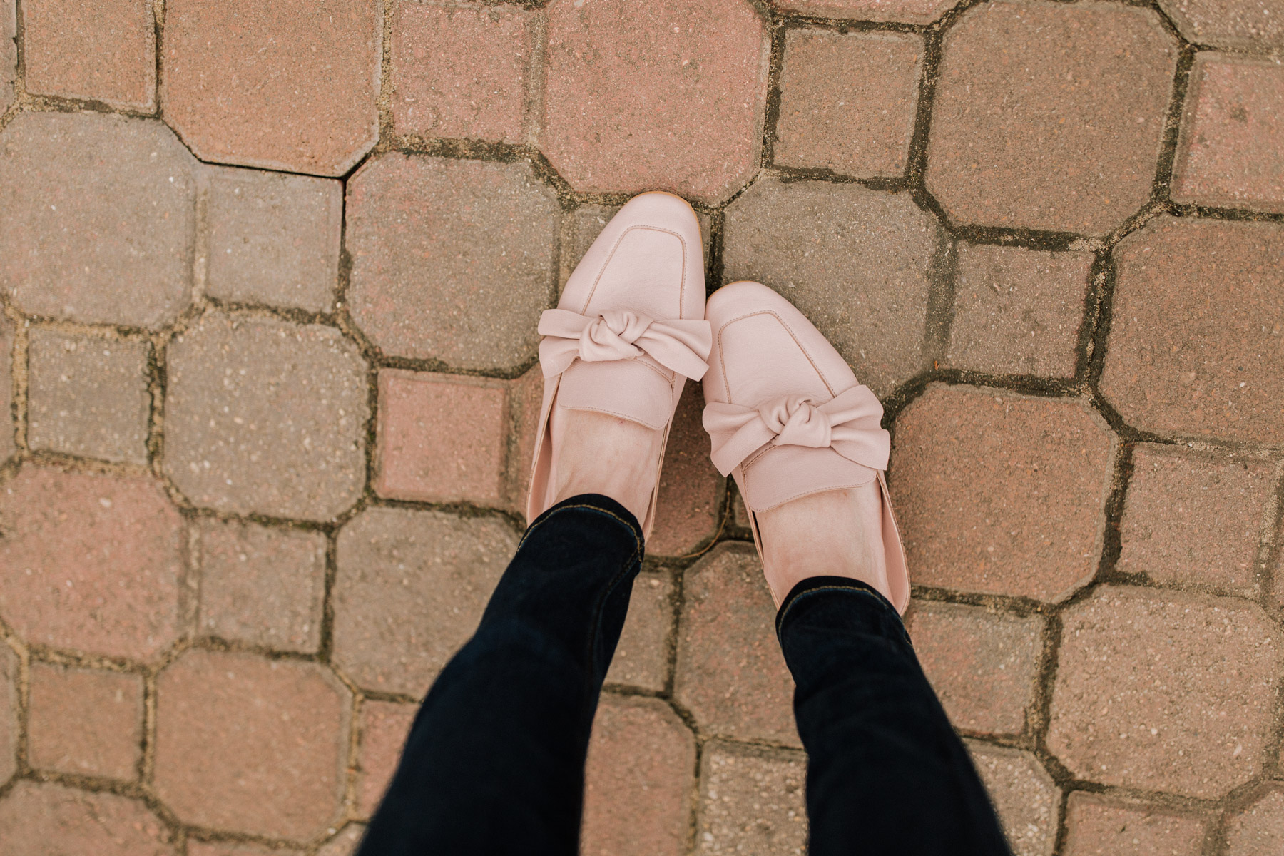 pink bow mules - kelly in the city