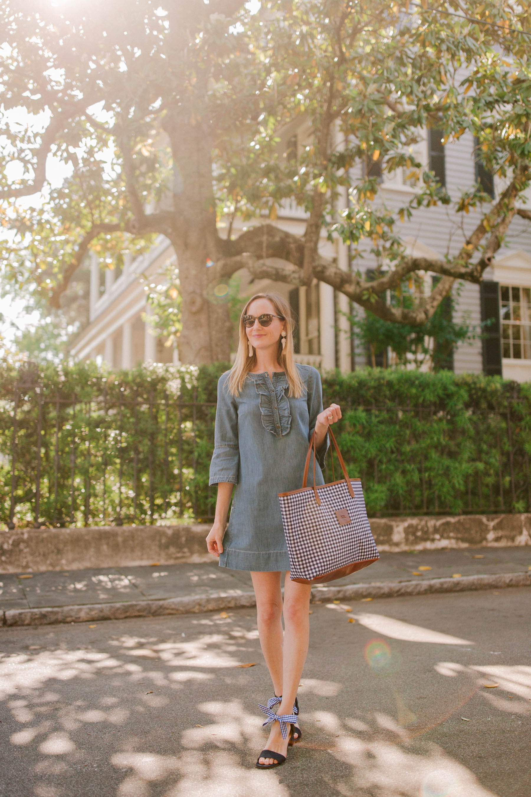 Gingham Tote - Kelly in the City