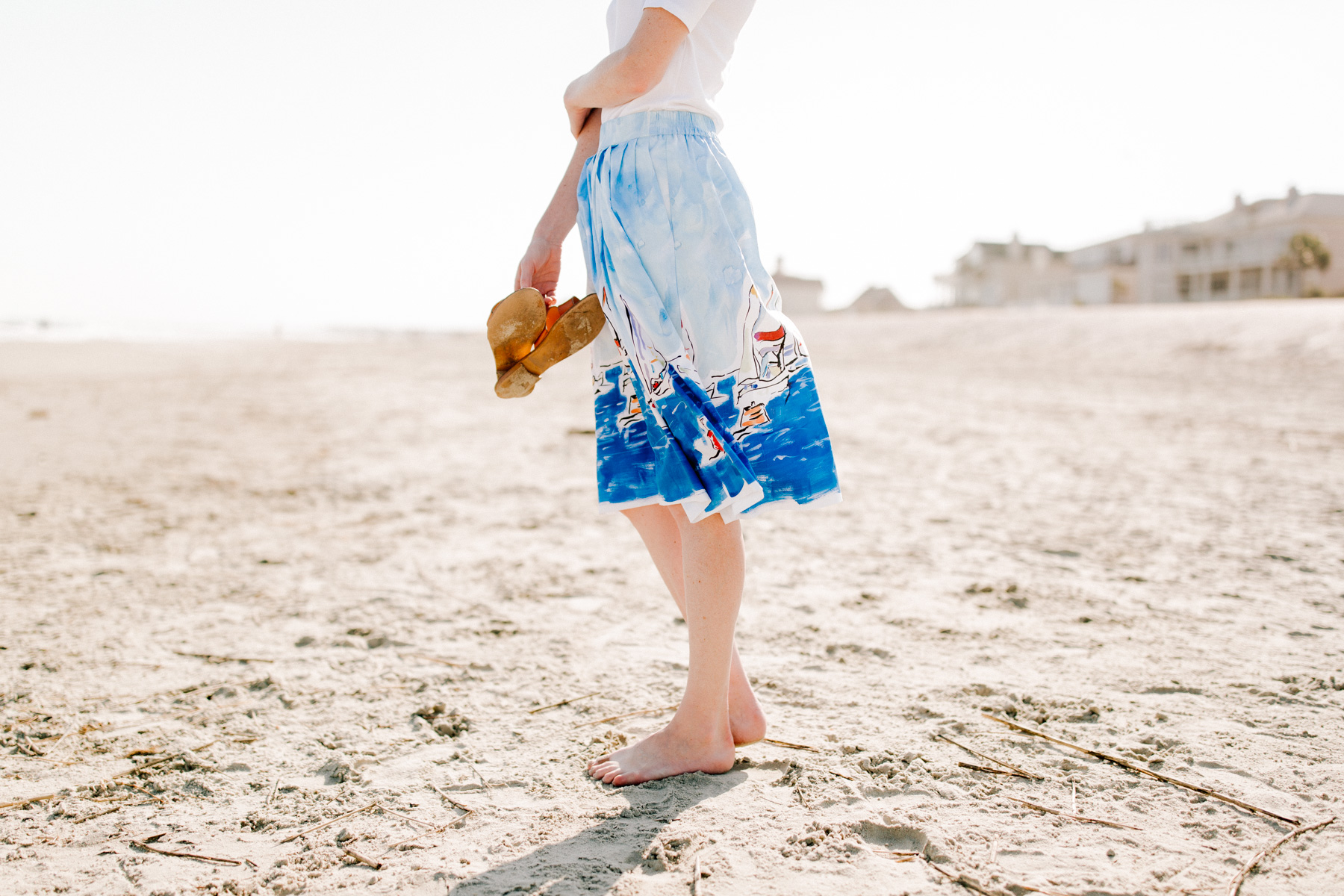 Isle of Palms - Kelly in the City wearing Equestrian Print Regatta Skirt