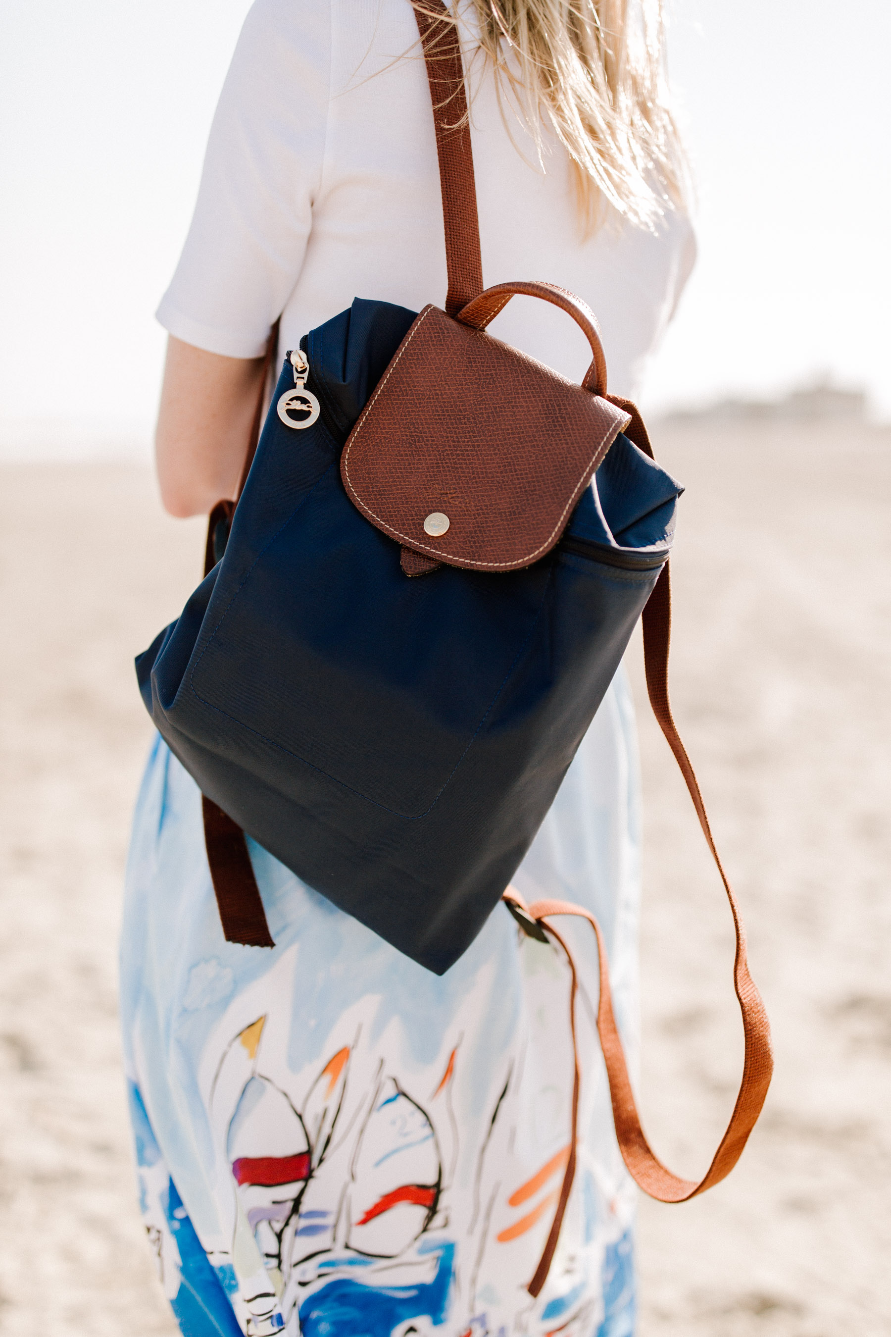 Longchamp Backpack on Preppy Style blogger Kelly in the City