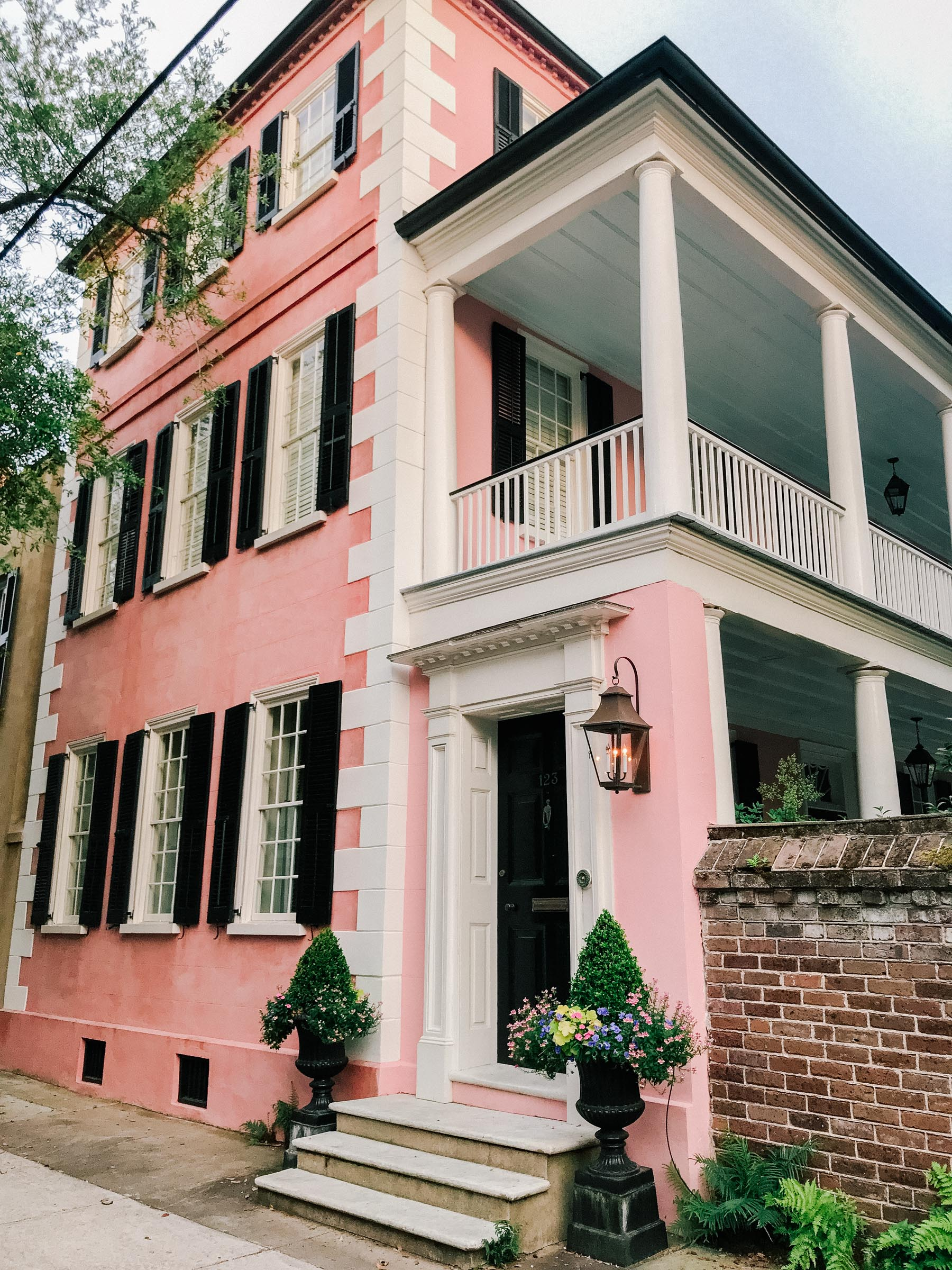 Pink Buildings In Charleston