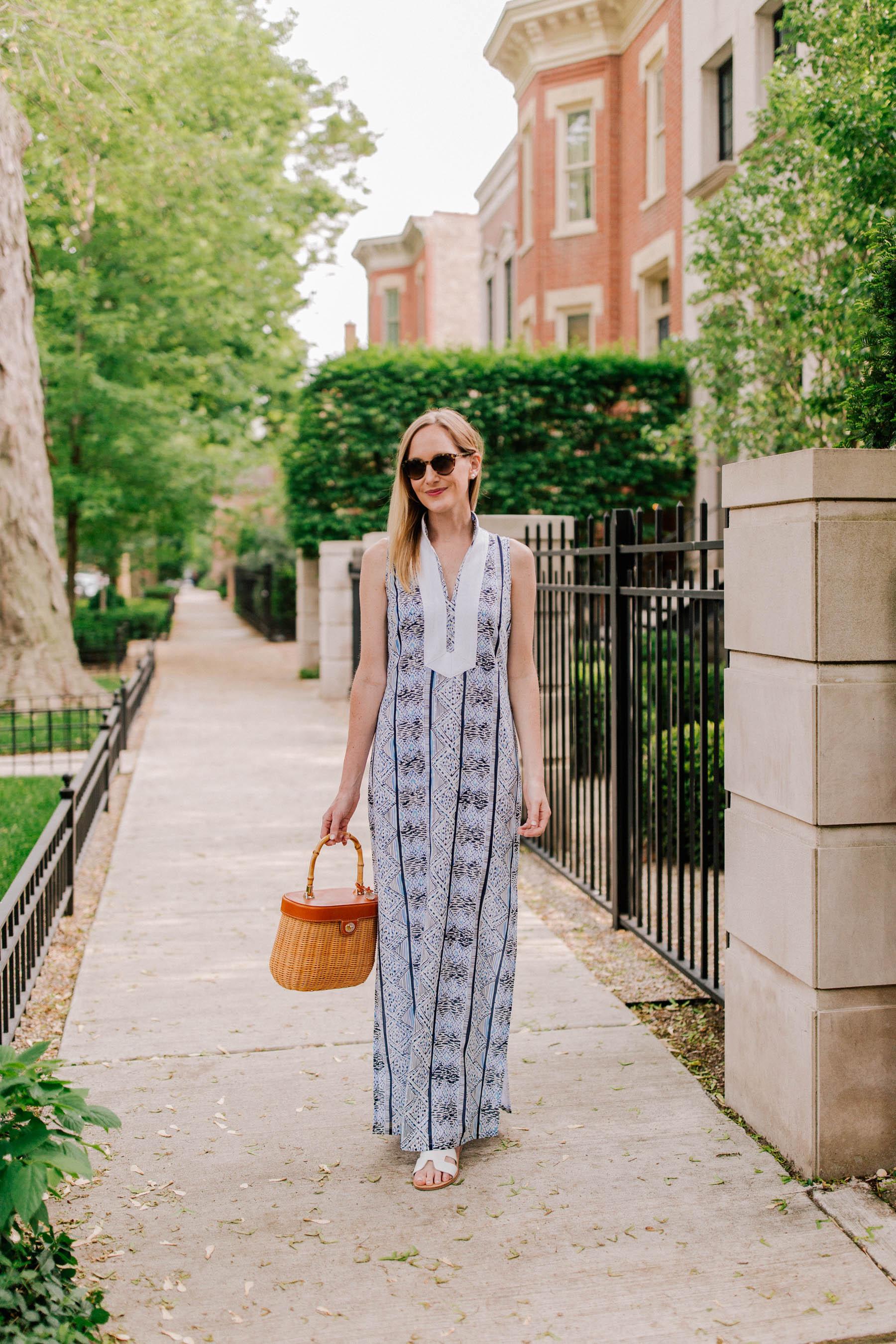 Kelly wearing Sail to Sable Maxi Dresses