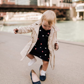 Toddler in a Trench Coat
