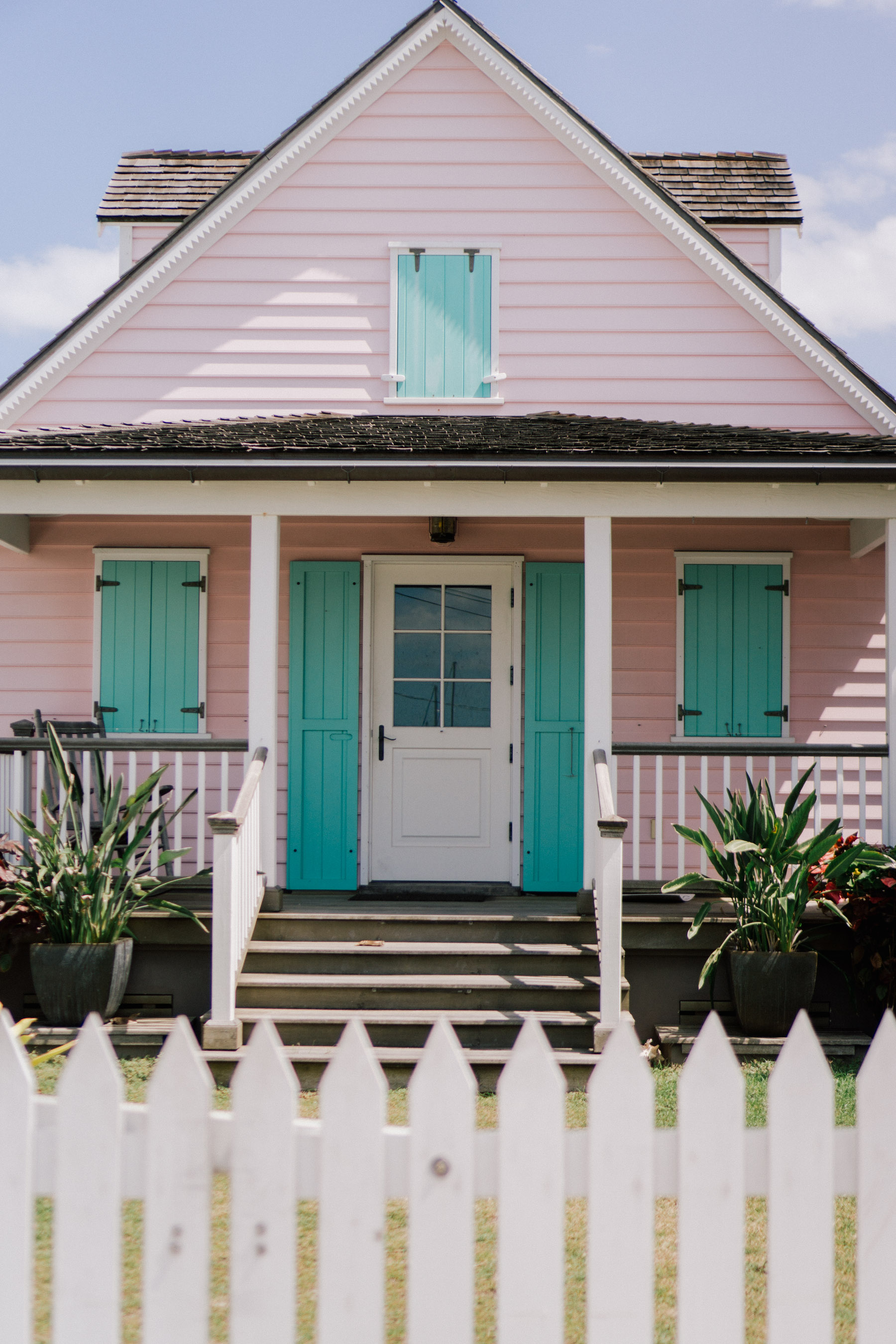 Pink House in Hope Town Harbor