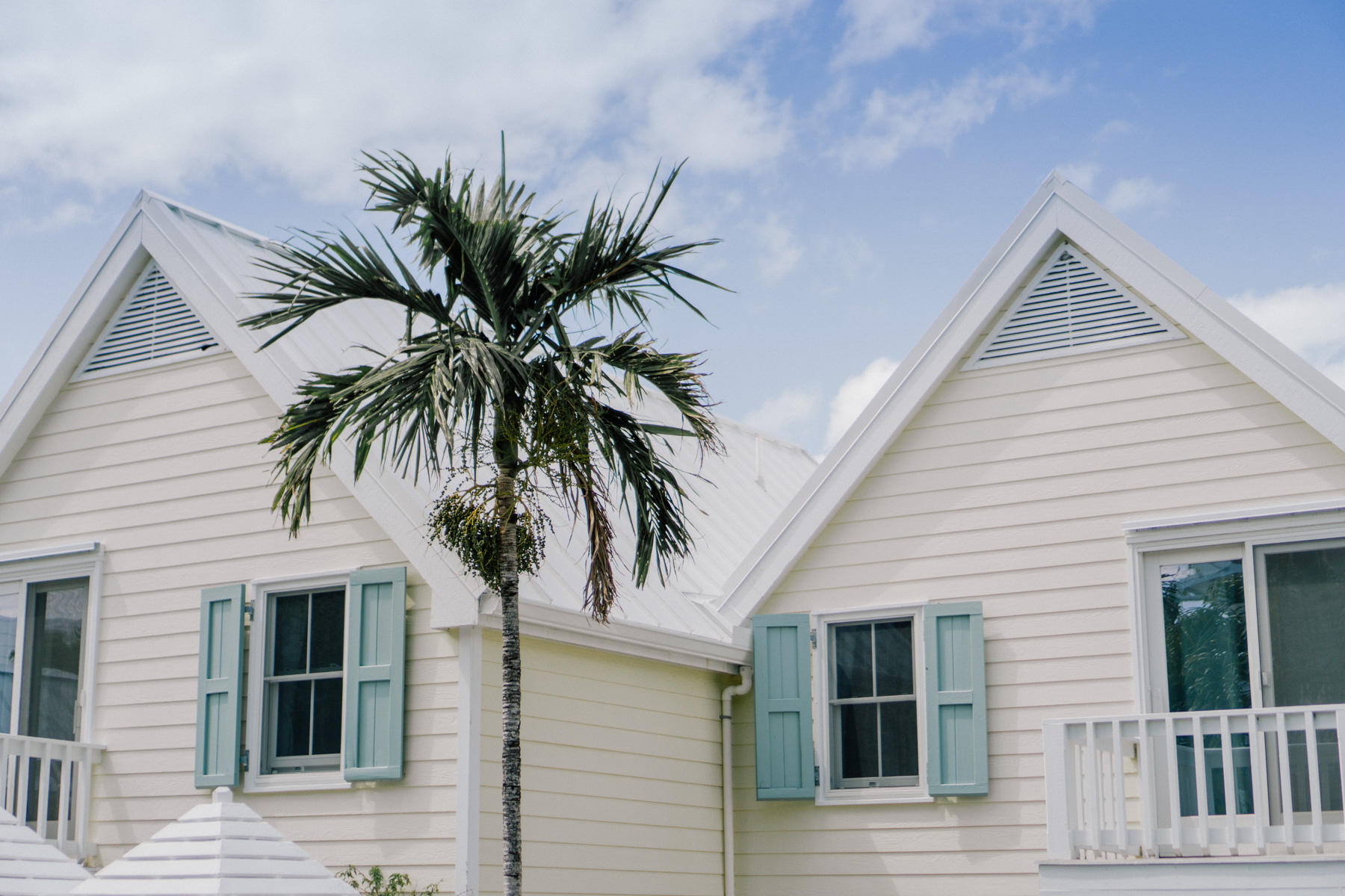 Hope Town Harbor white houses