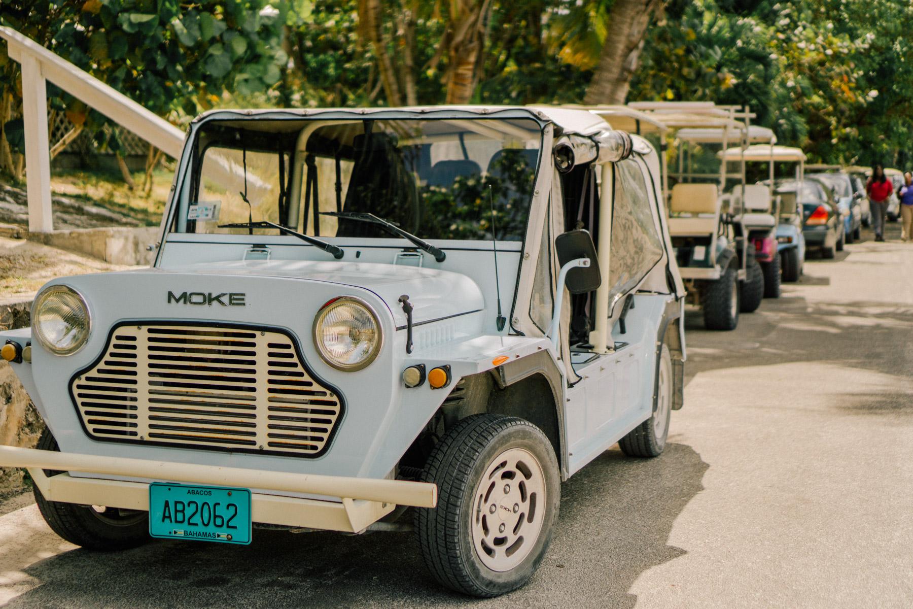 Moke car at Hope Town Harbor