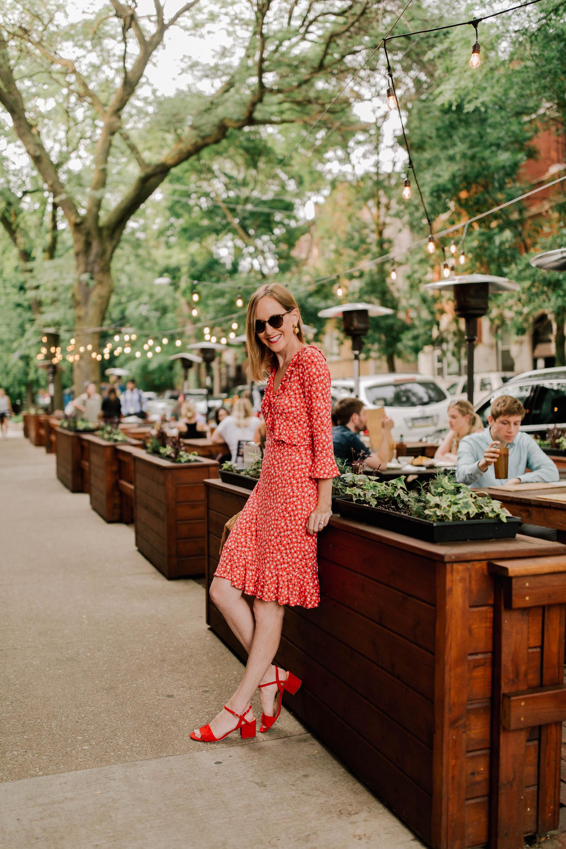 Kelly is wearing a Little Red Dress - Boden-MICHAELA-JERSEY-DRESS