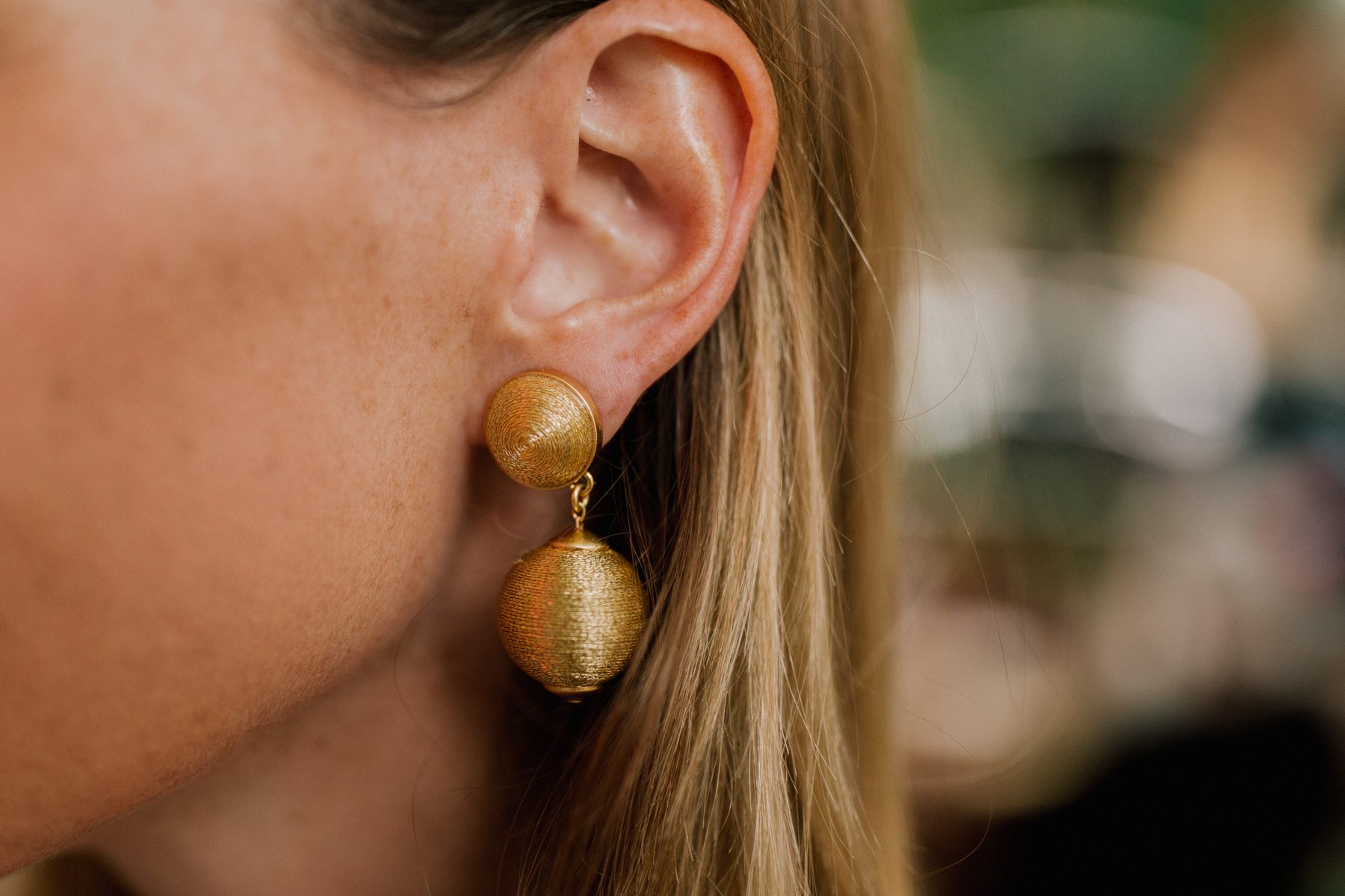 Gold Lantern Earrings - Kelly in the City