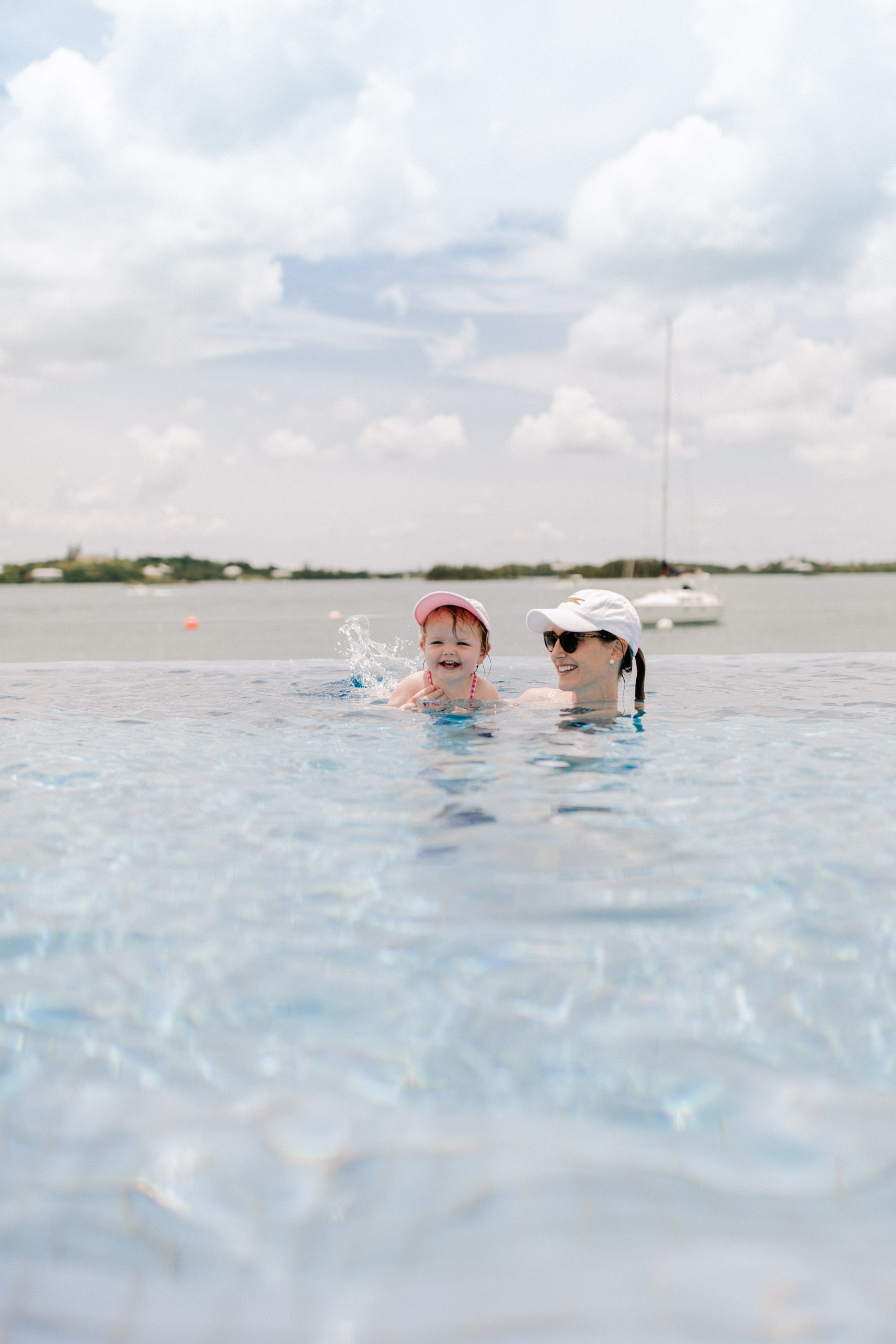 Kelly and Emma - Infinity Pool at Hamilton Princess Bermuda
