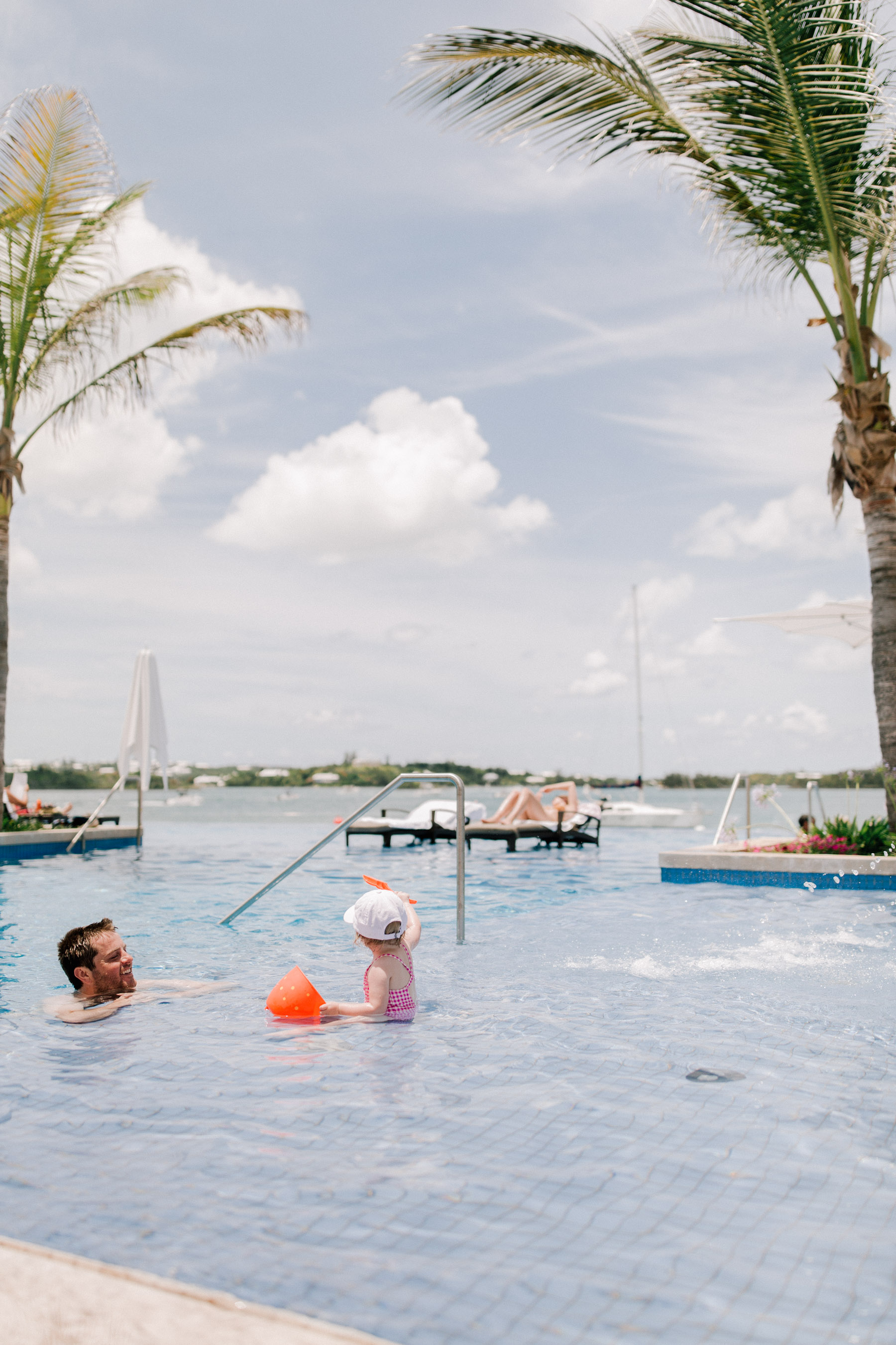Kelly in the City - Infinity Pool at Hamilton Princess Bermuda