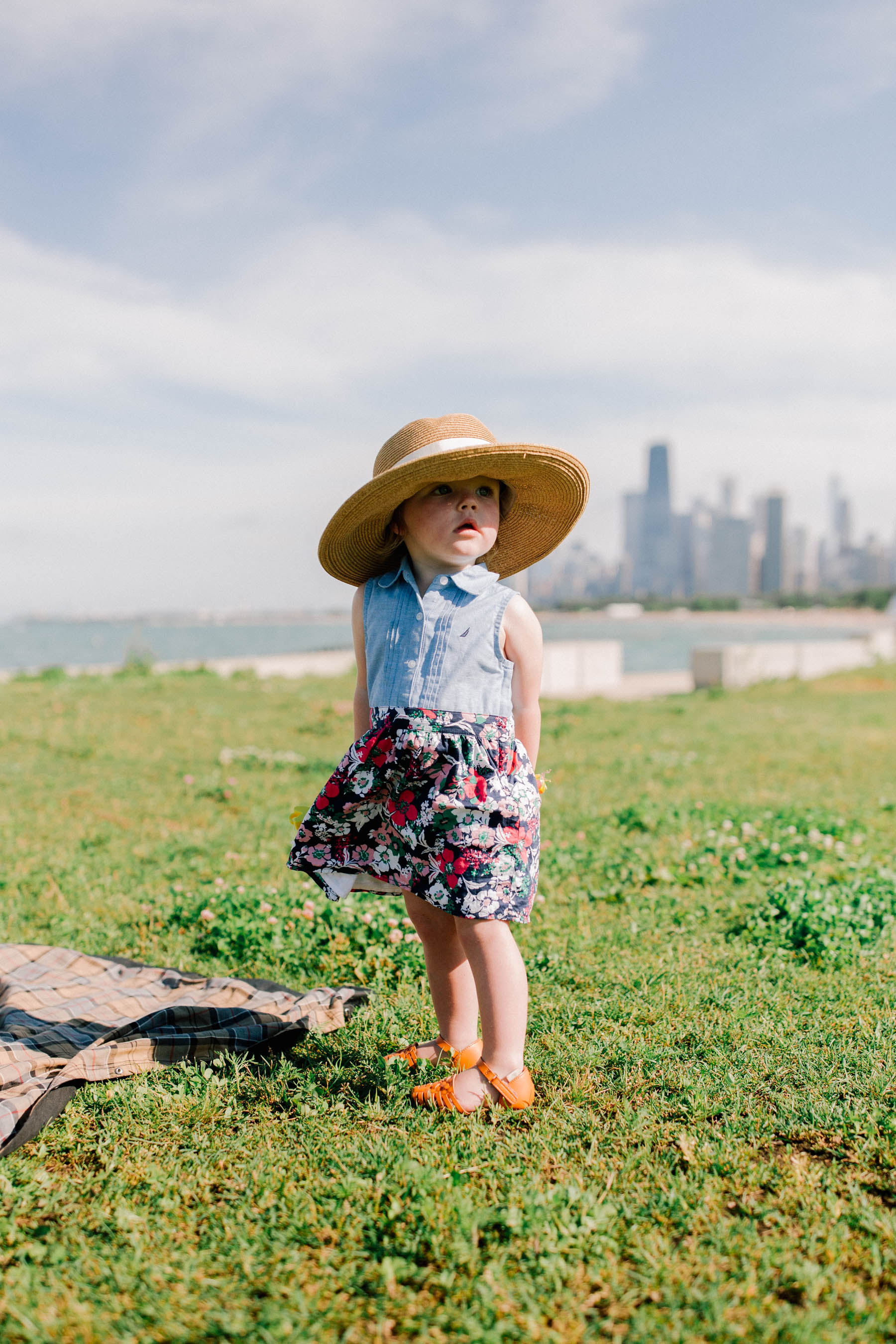 Emma is wearing nautica toddler dress via Amazon - Kelly in the City