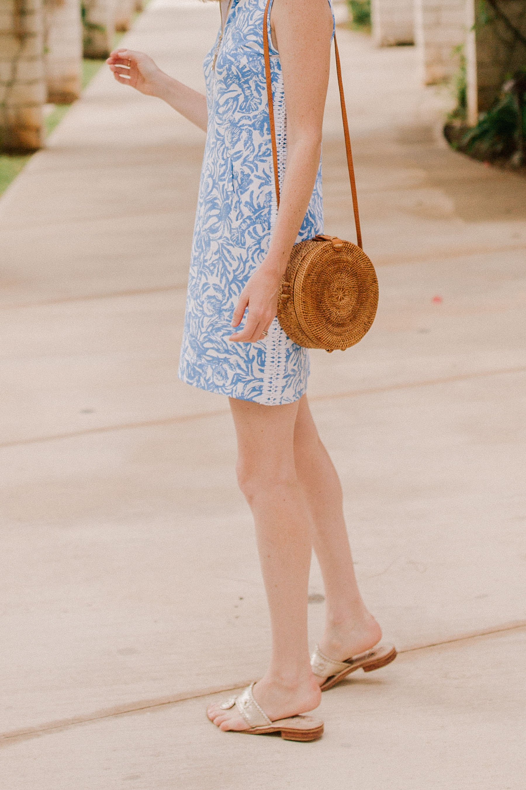Kelly is wearing a Lilly Pulitzer dress - Kelly in the City