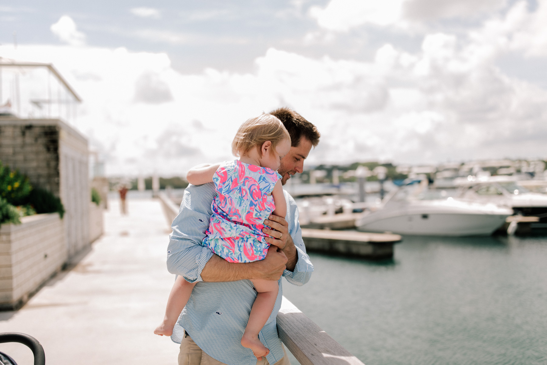 Mitch and Baby Emma is wearing a Lilly Pulitzer dress - Kelly in the City