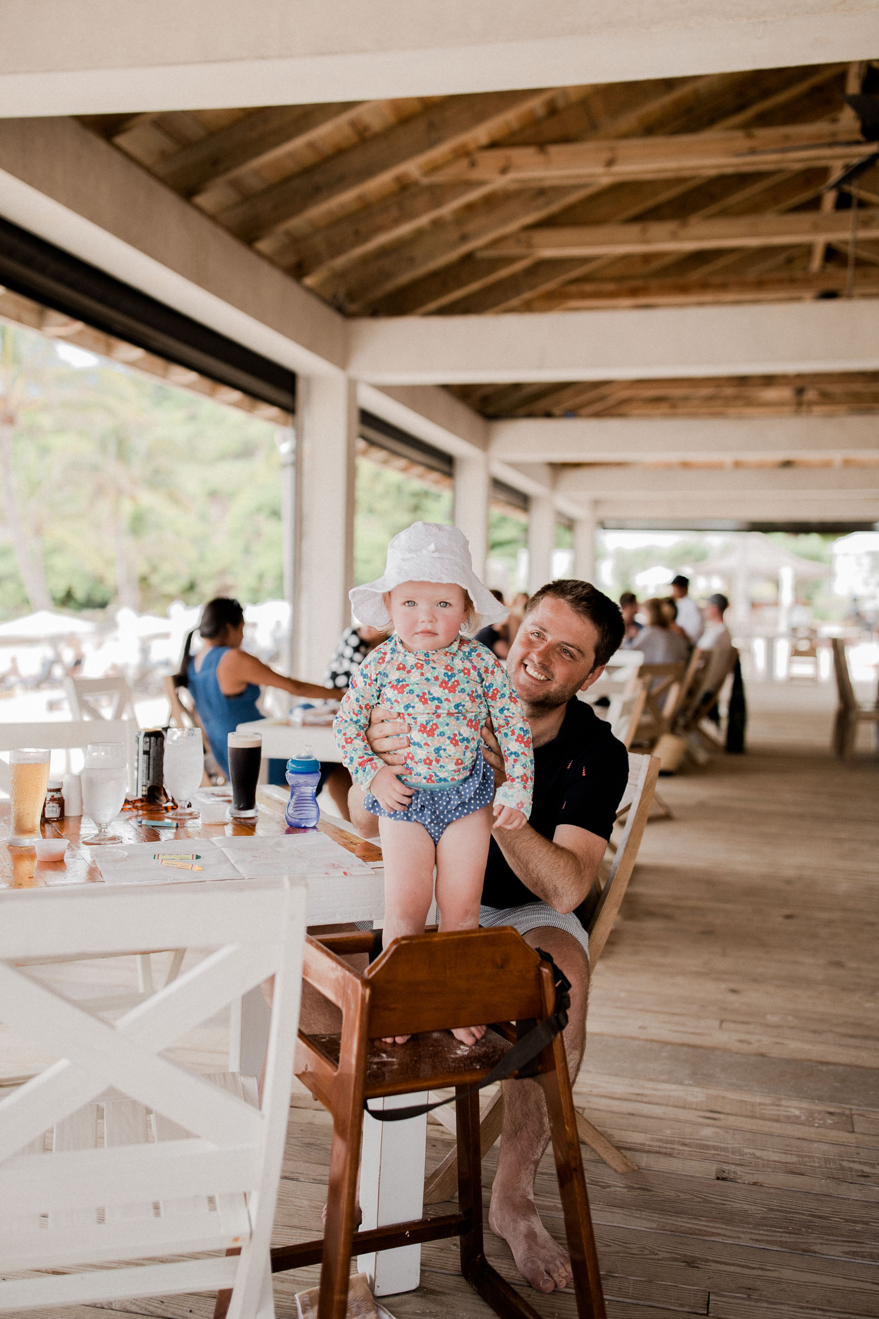 Mitch and Baby Emma at a Private Bermudian Beach | Kelly in the City
