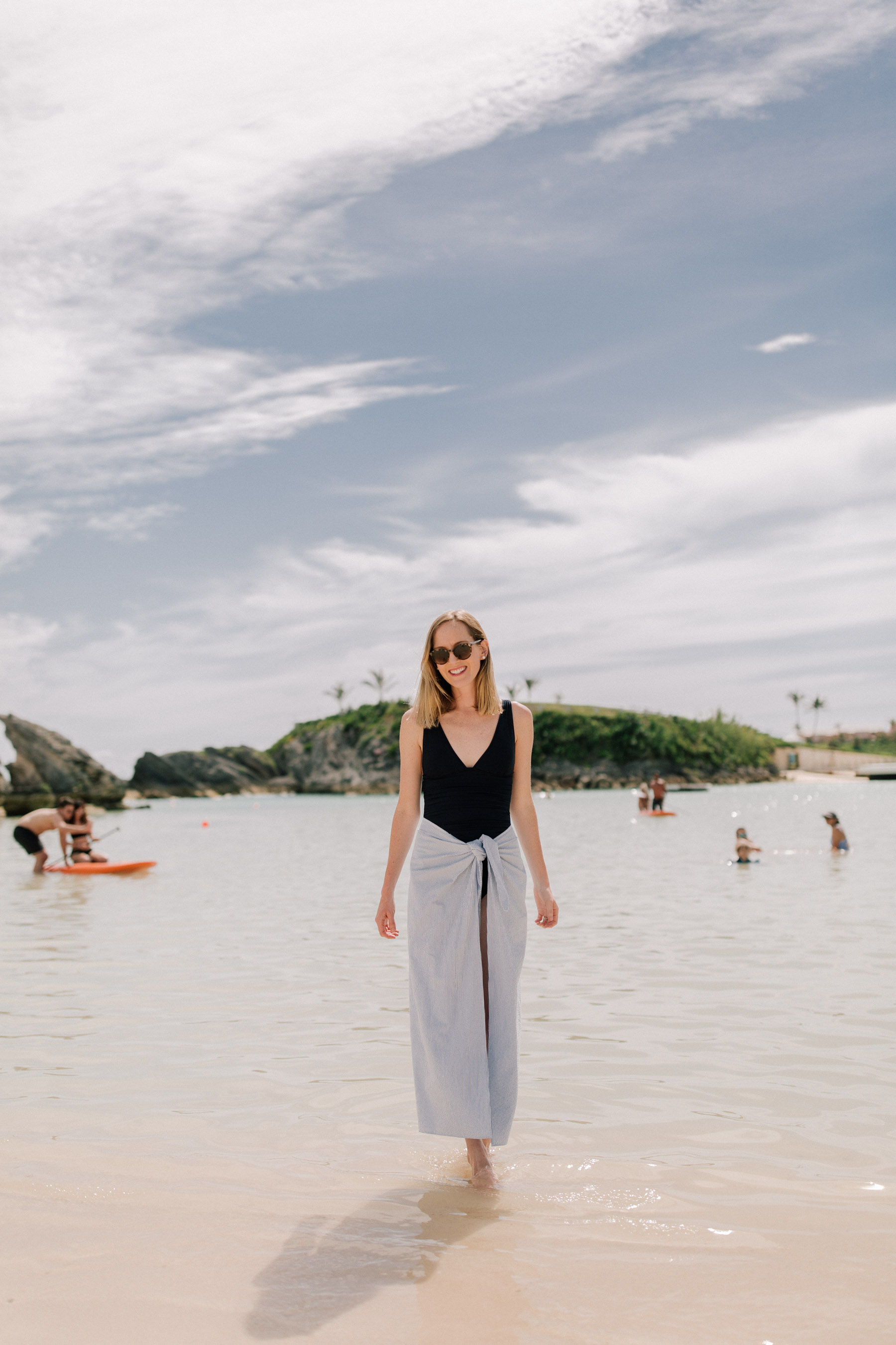 Kelly at a Private Bermudian Beach | Kelly in the City