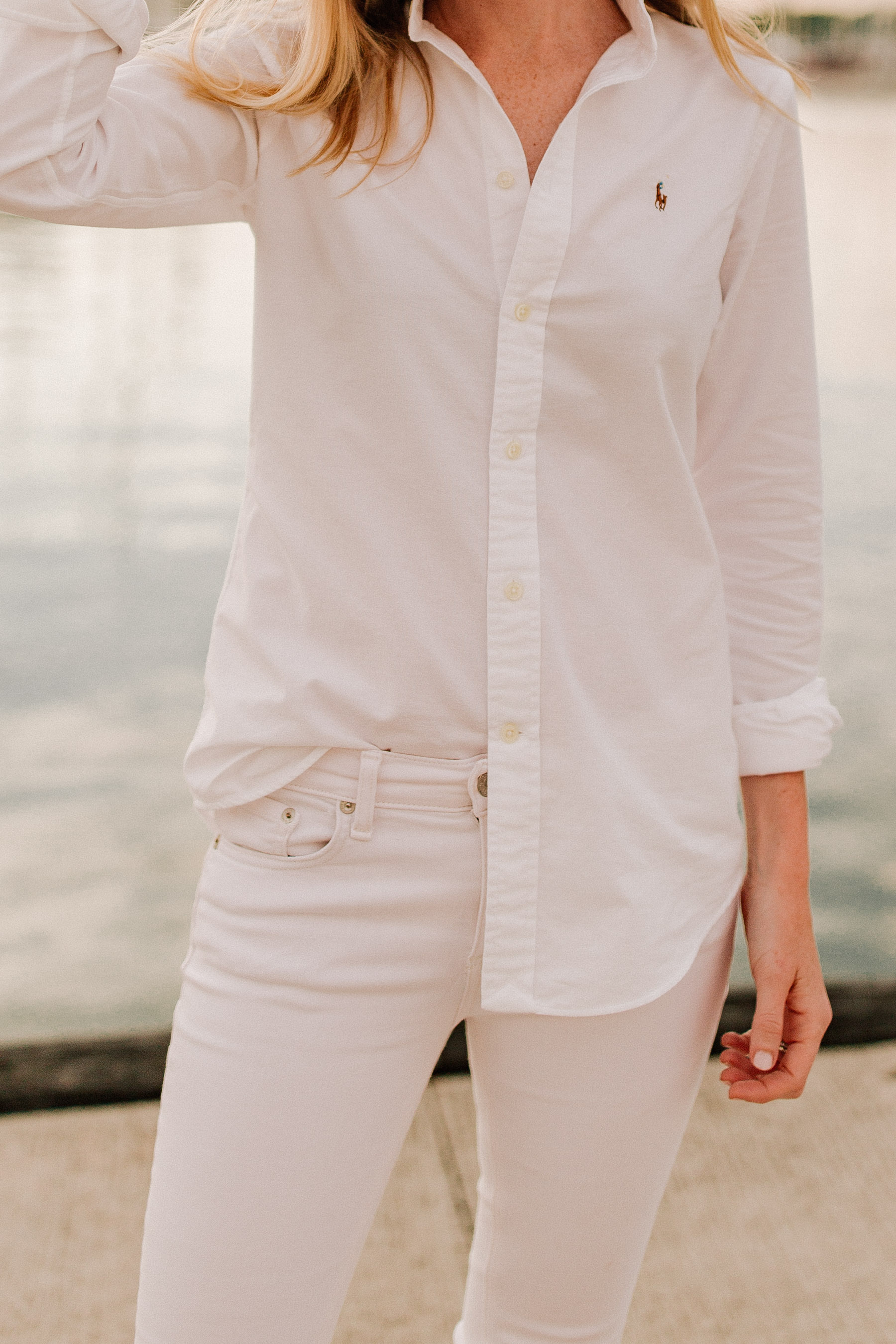 / Knit Cotton Oxford Shirt /  - Kelly in the city