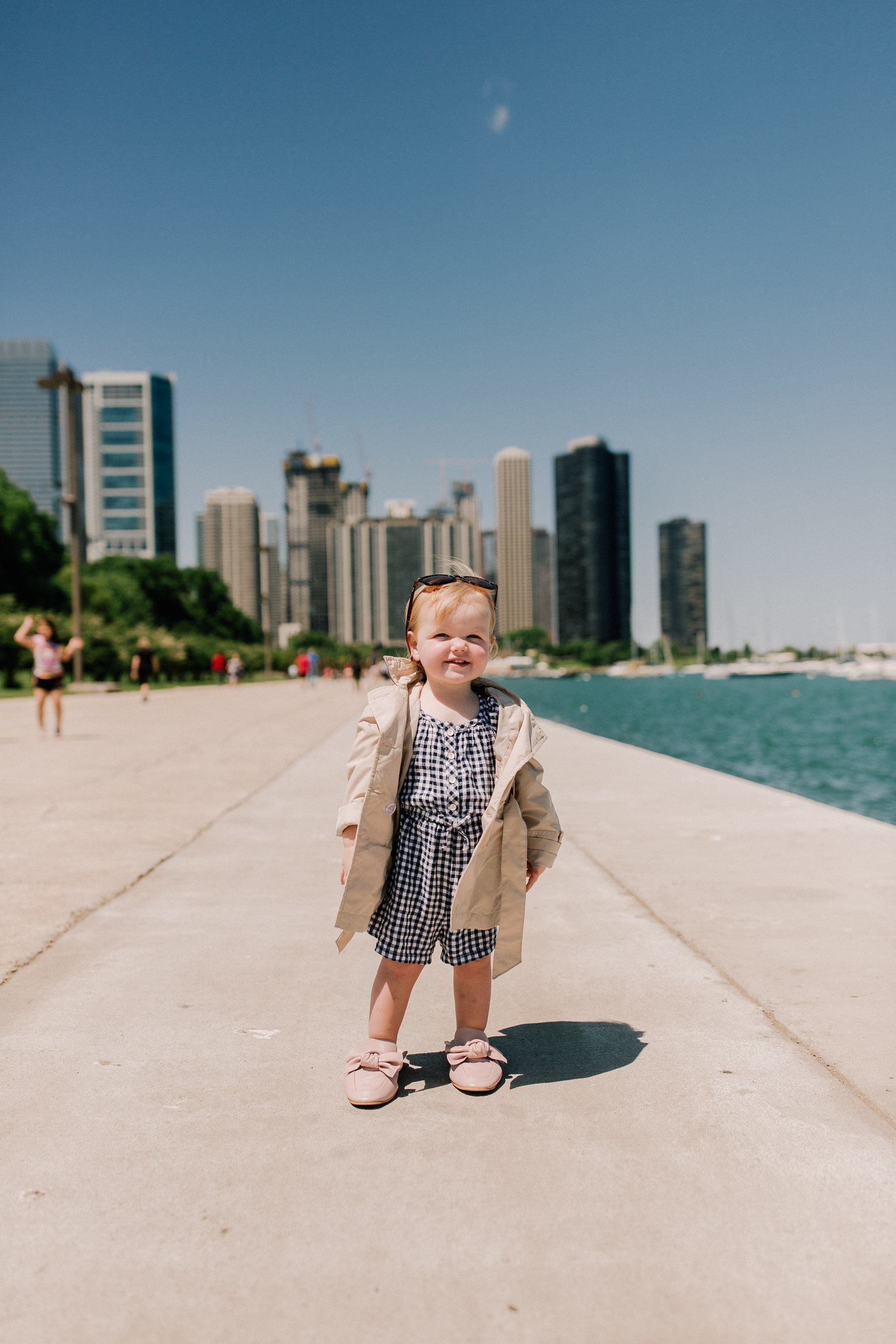 Baby Emma - Mitch's Stock Khaki Trench Coat - Kelly in the City