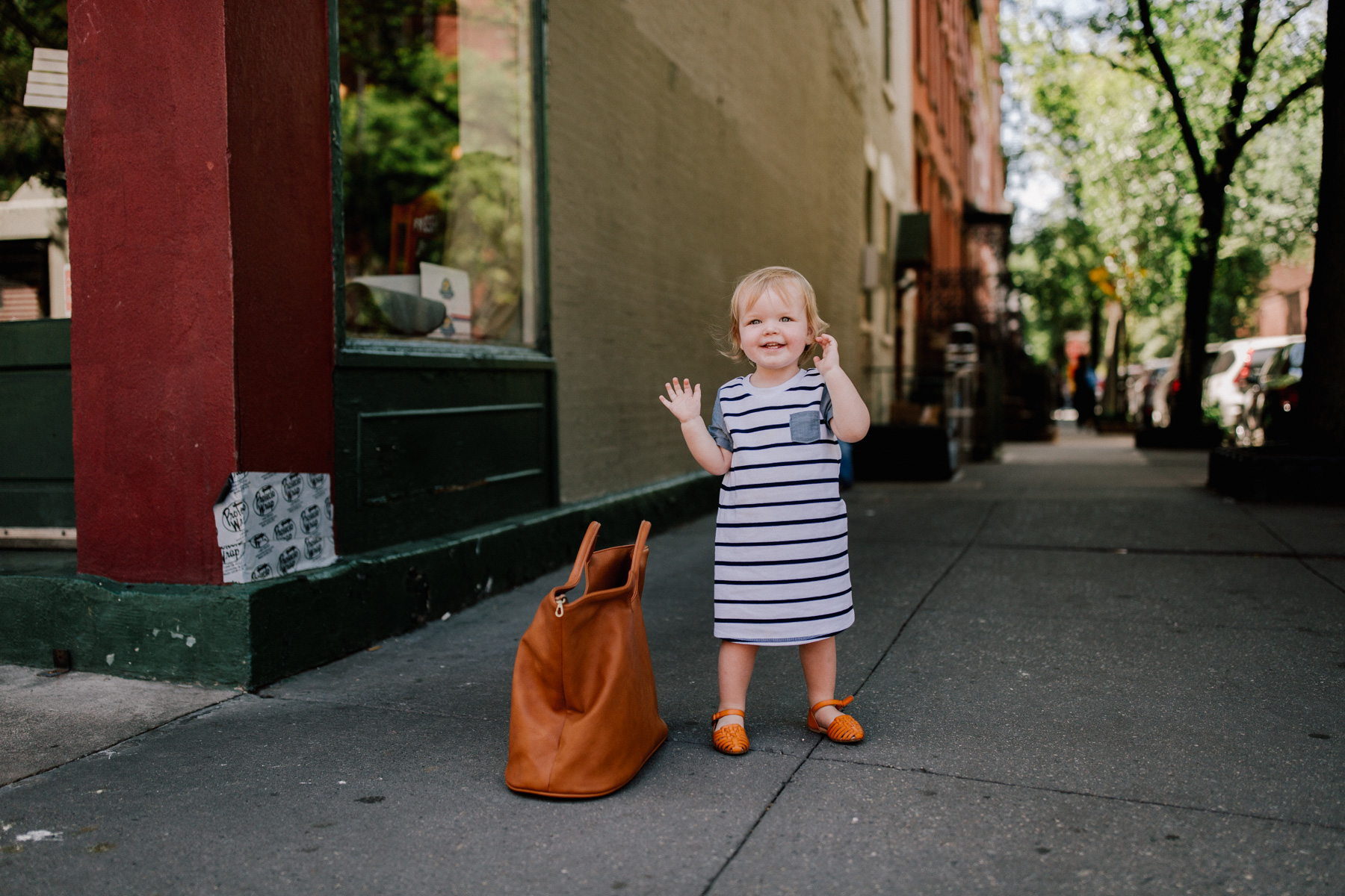 Stripe Chambray T-Shirt Dress - Baby Emma - Kelly in the City