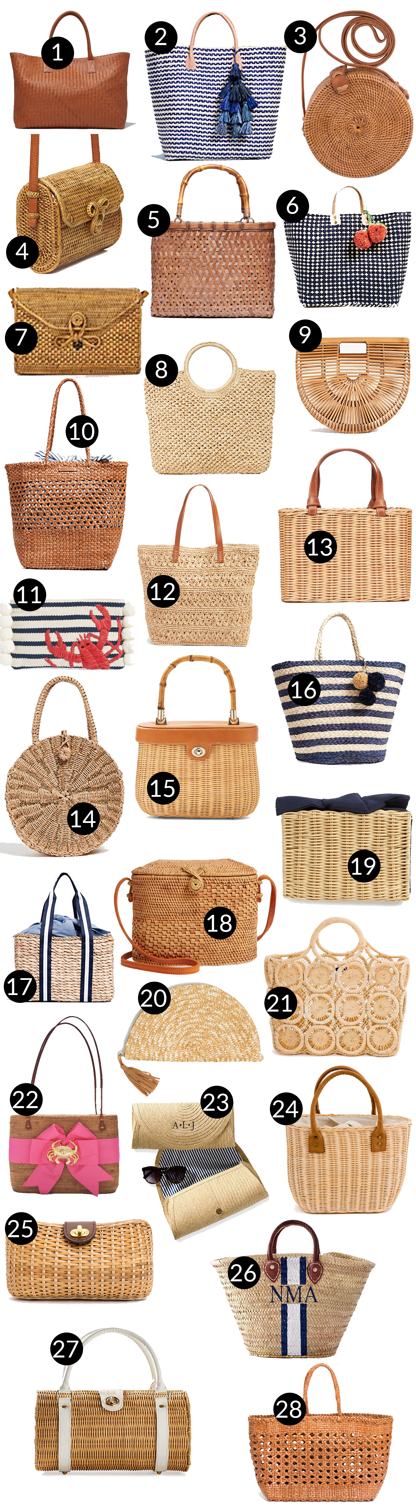 Preppy Woven Bags - Kelly in the City