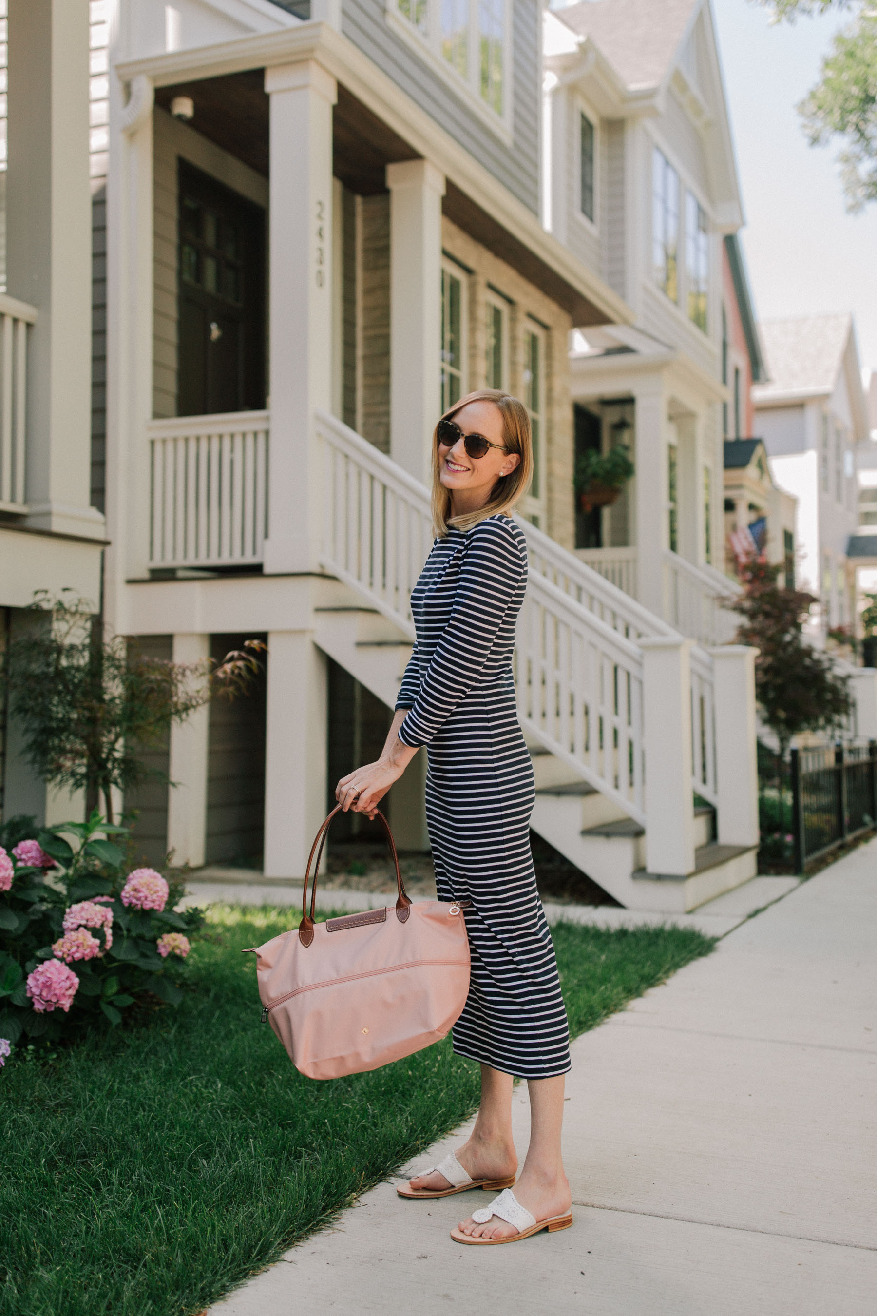 1901 Stripe Midi Dress | Kelly in the City