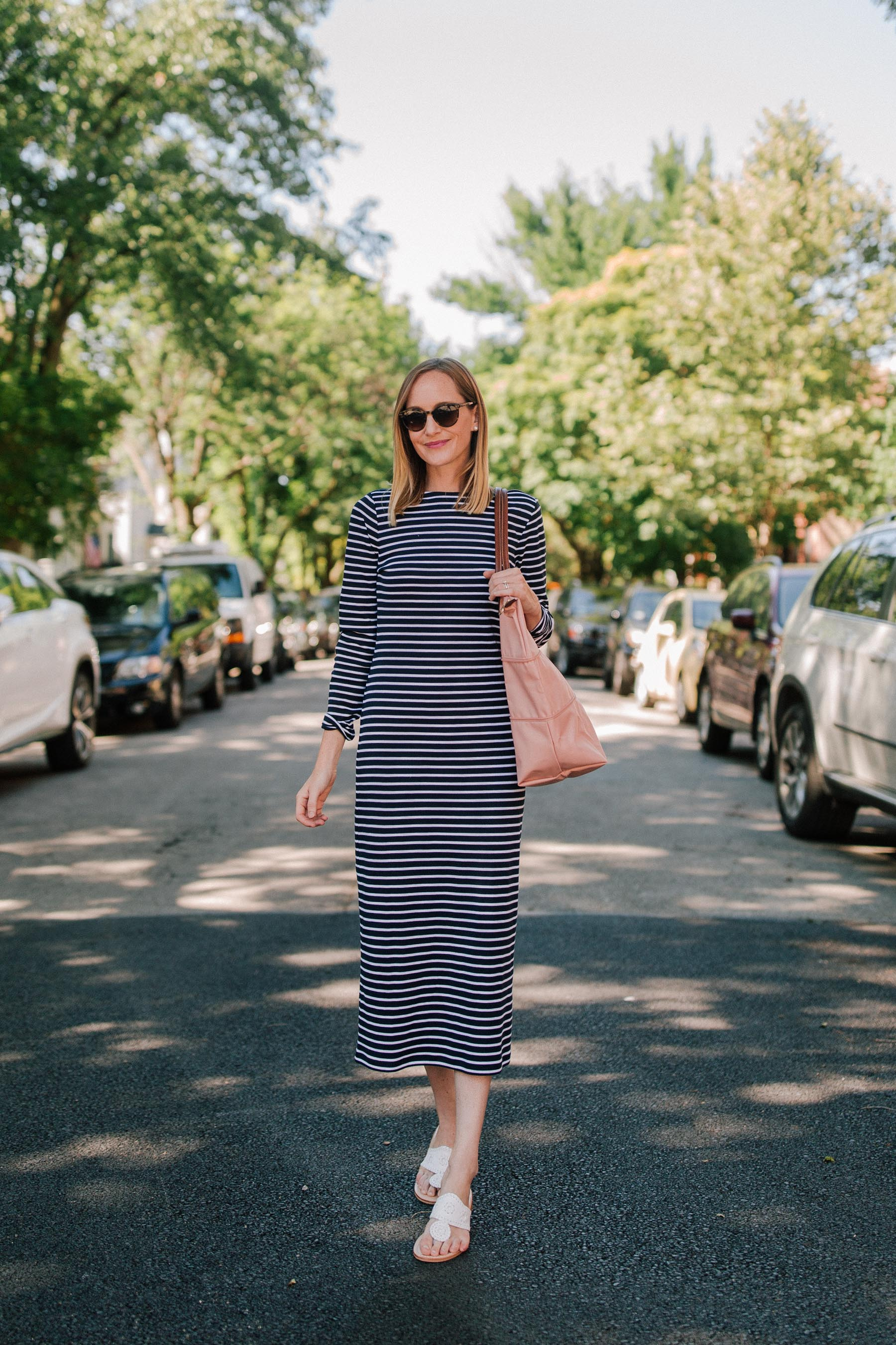 Striped 1901 Midi Dress + New $100 Giveaway