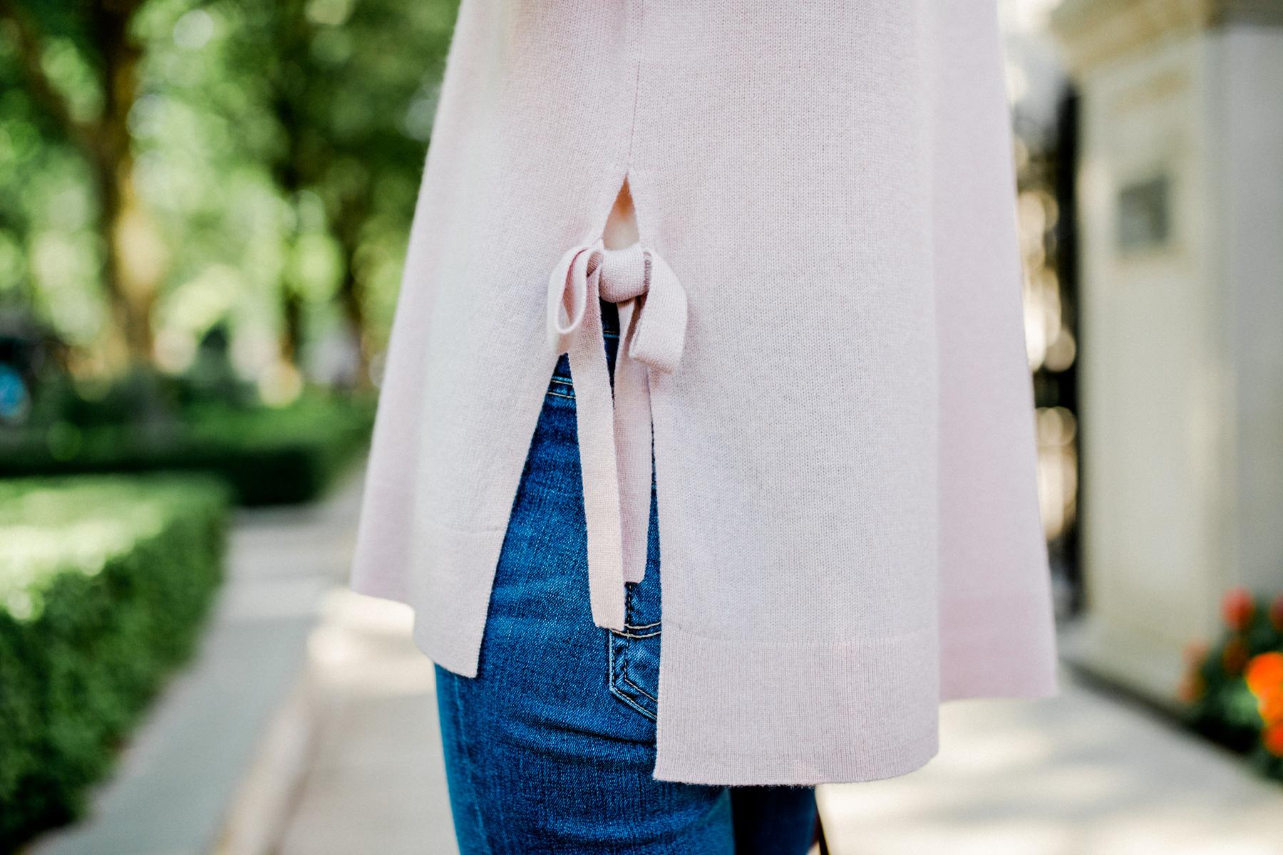 Halogen Cashmere Tie-Hem Sweater