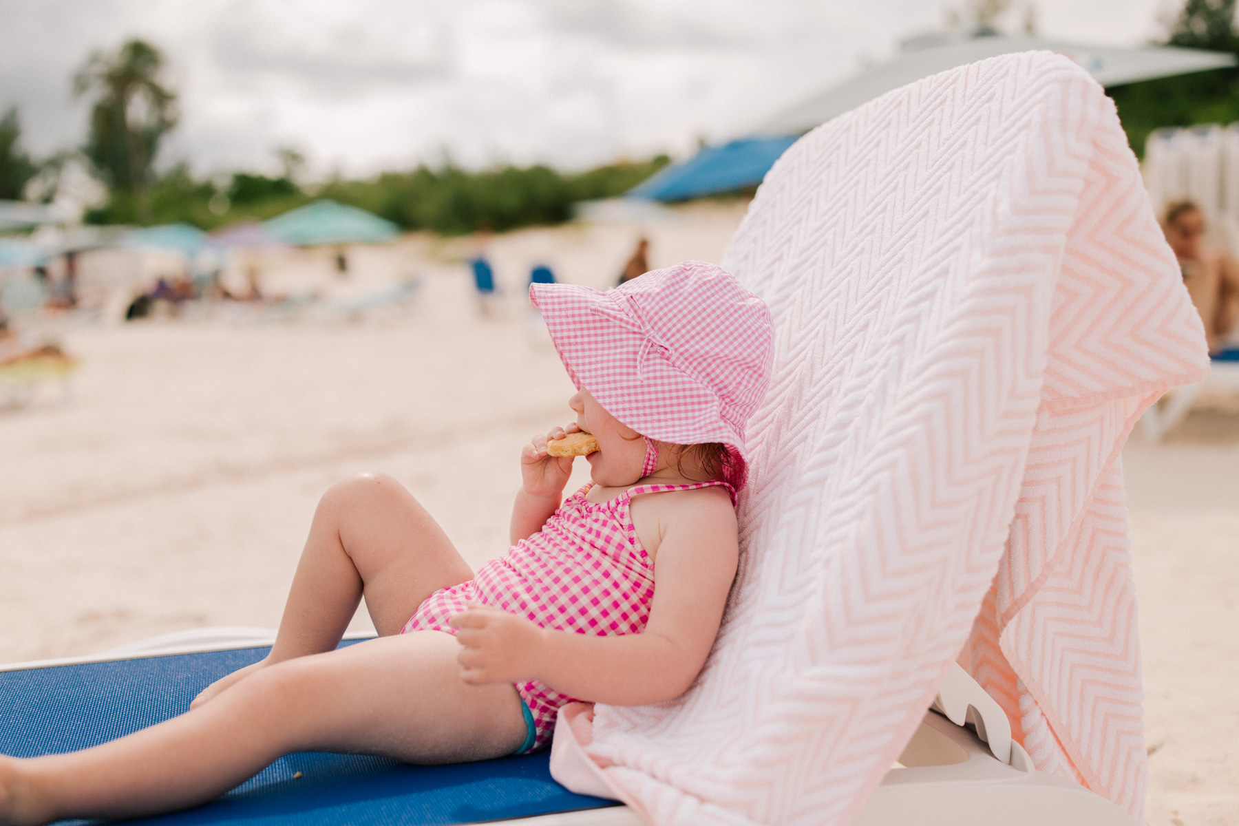 Emma's  one-piece swimsuit in gingham J.Crew