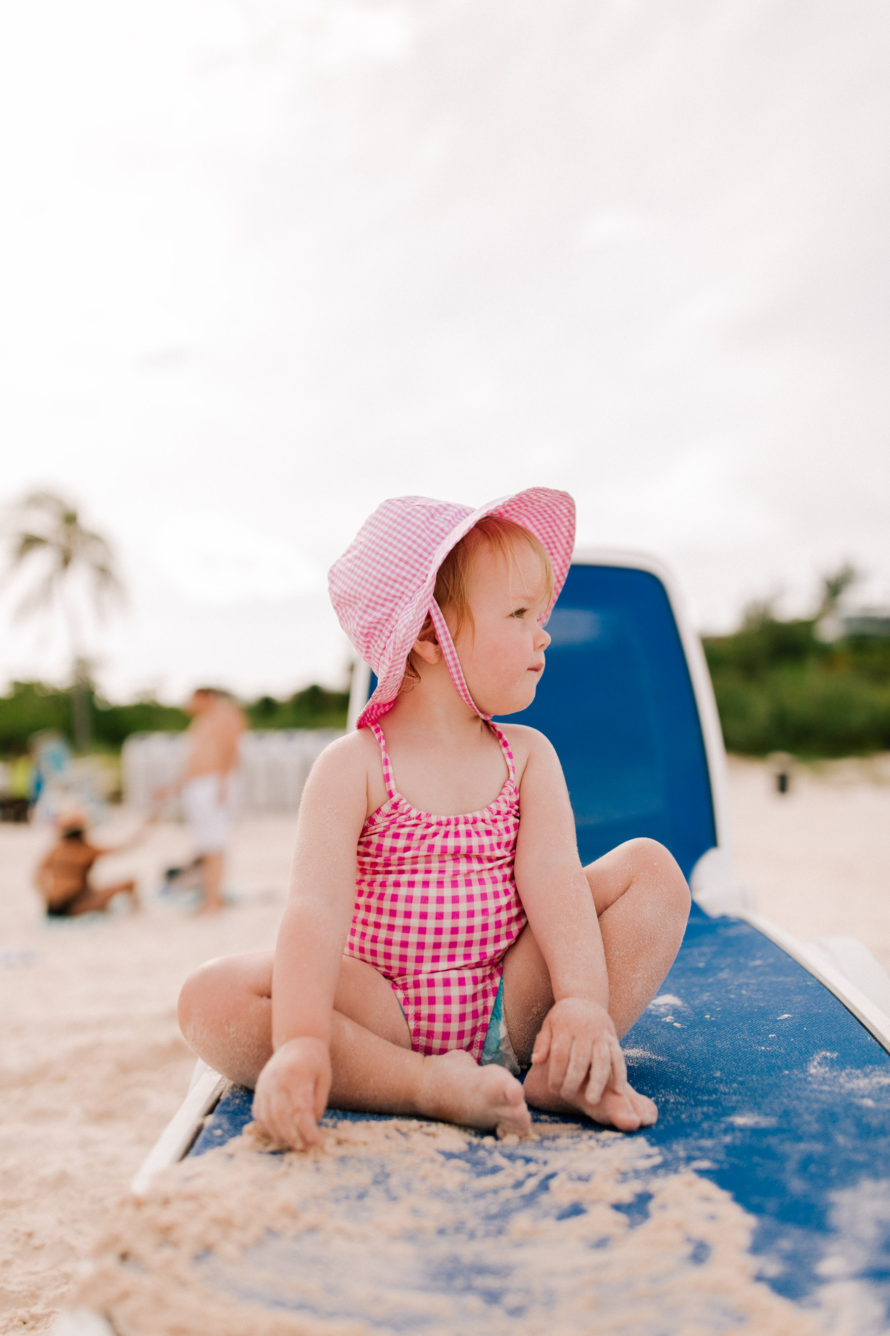 Girls' one-piece swimsuit in gingham J.Crew