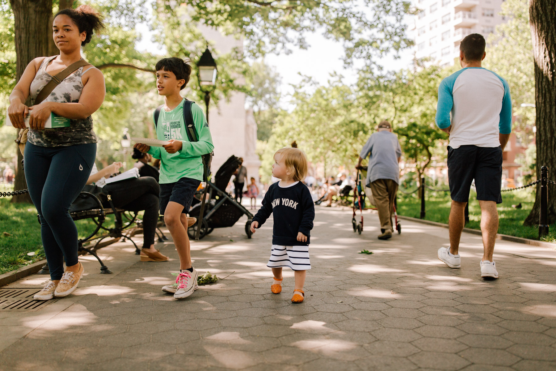 "J.Crew ""New York"" Sweatshirt  / Huarache Sandals/Gap Kids Dress"