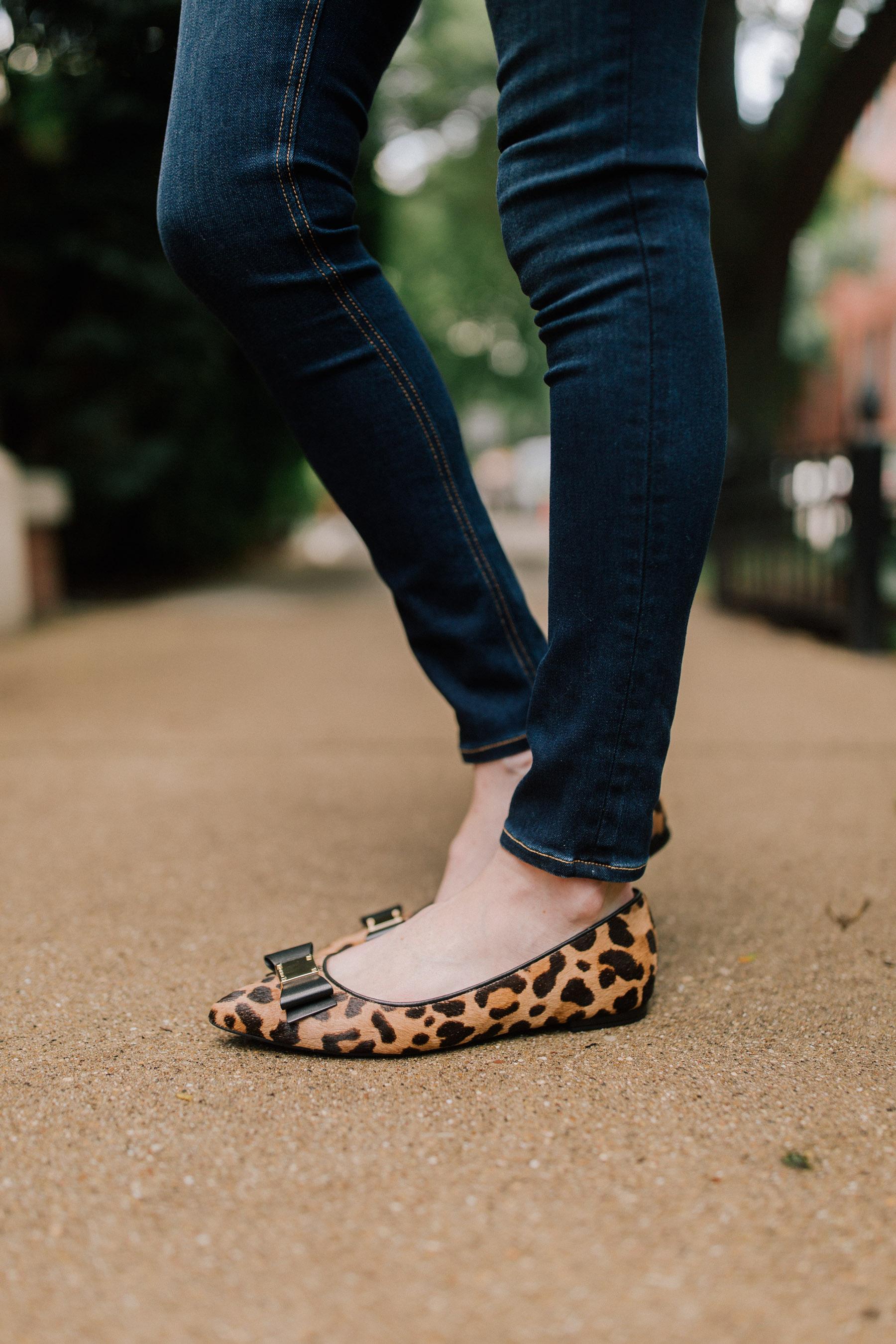 Cole Haan Tali Skimmer Flats /Rag & Bone Skinny Jeans /