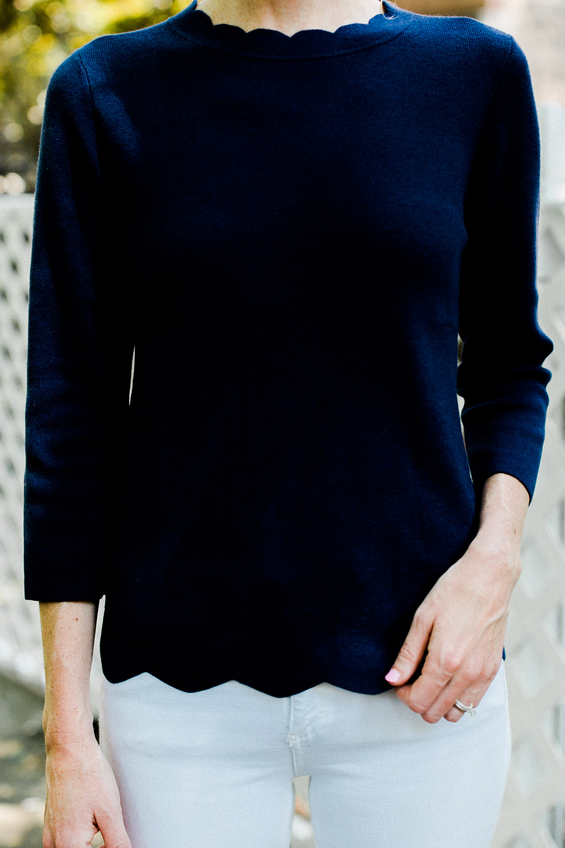 Halogen Scalloped Sweater