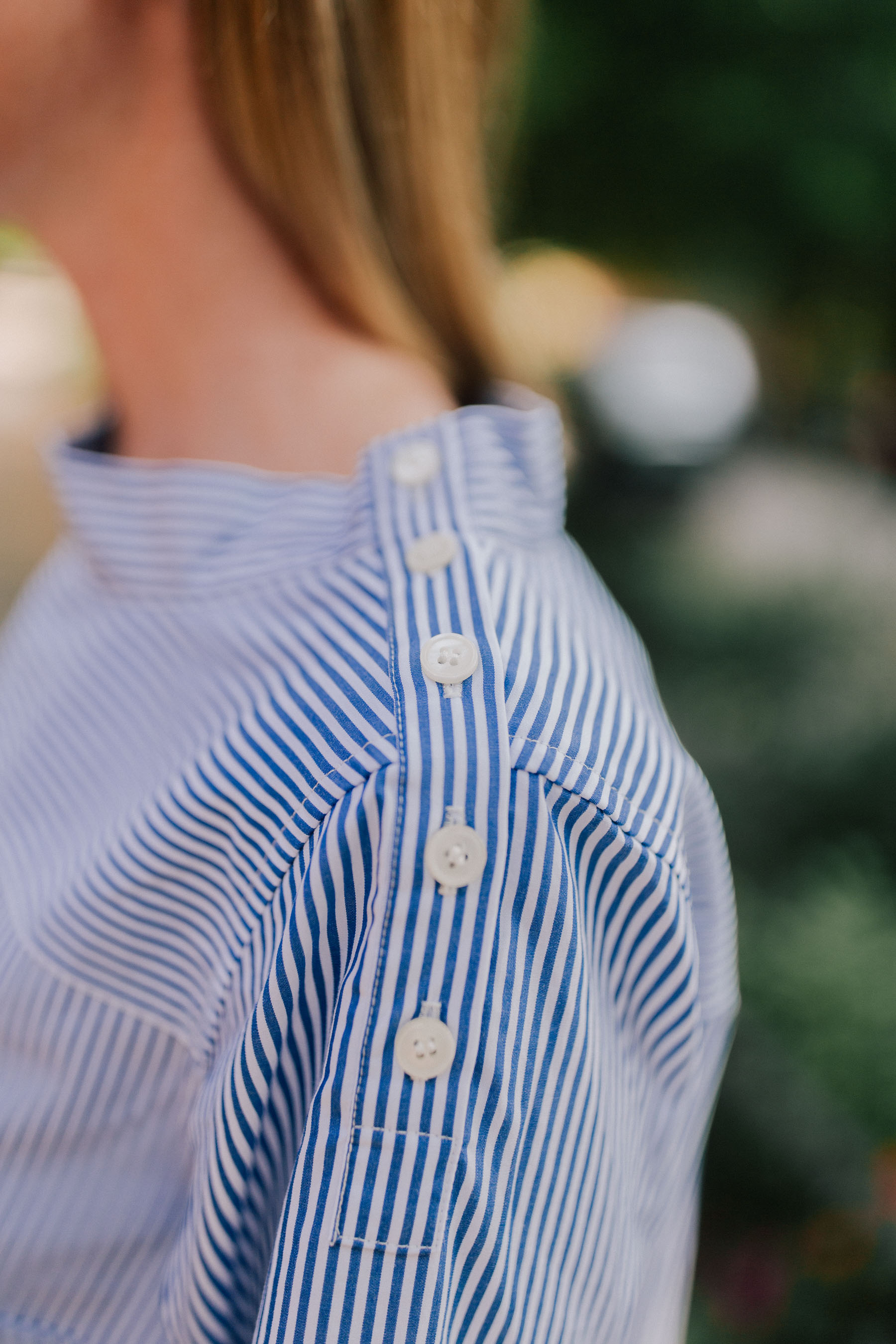 J.Crew Funnel Neck Stripe Shirt