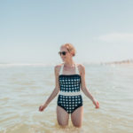 gingham bathing suit