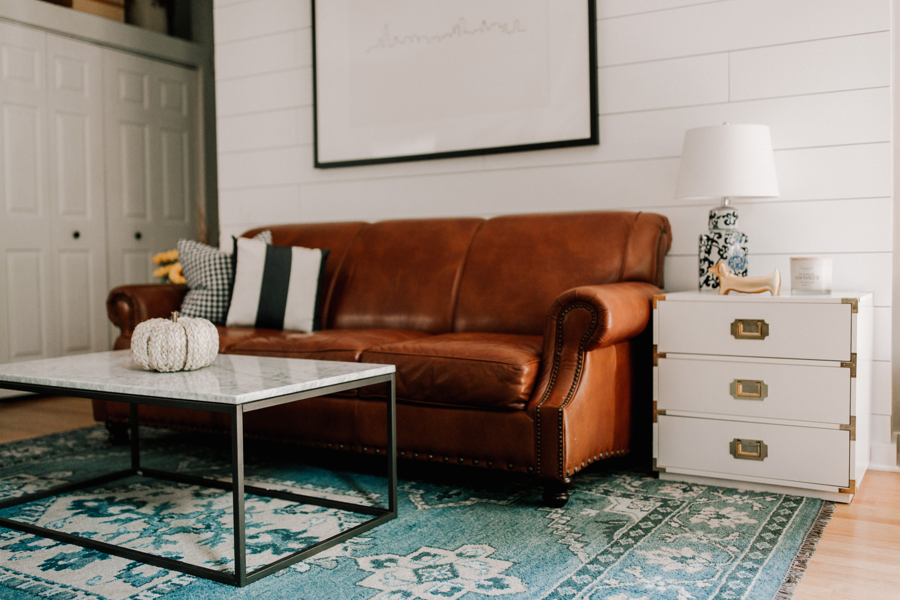 Living Room Decorate for Fall - Marshalls | Kelly in the City
