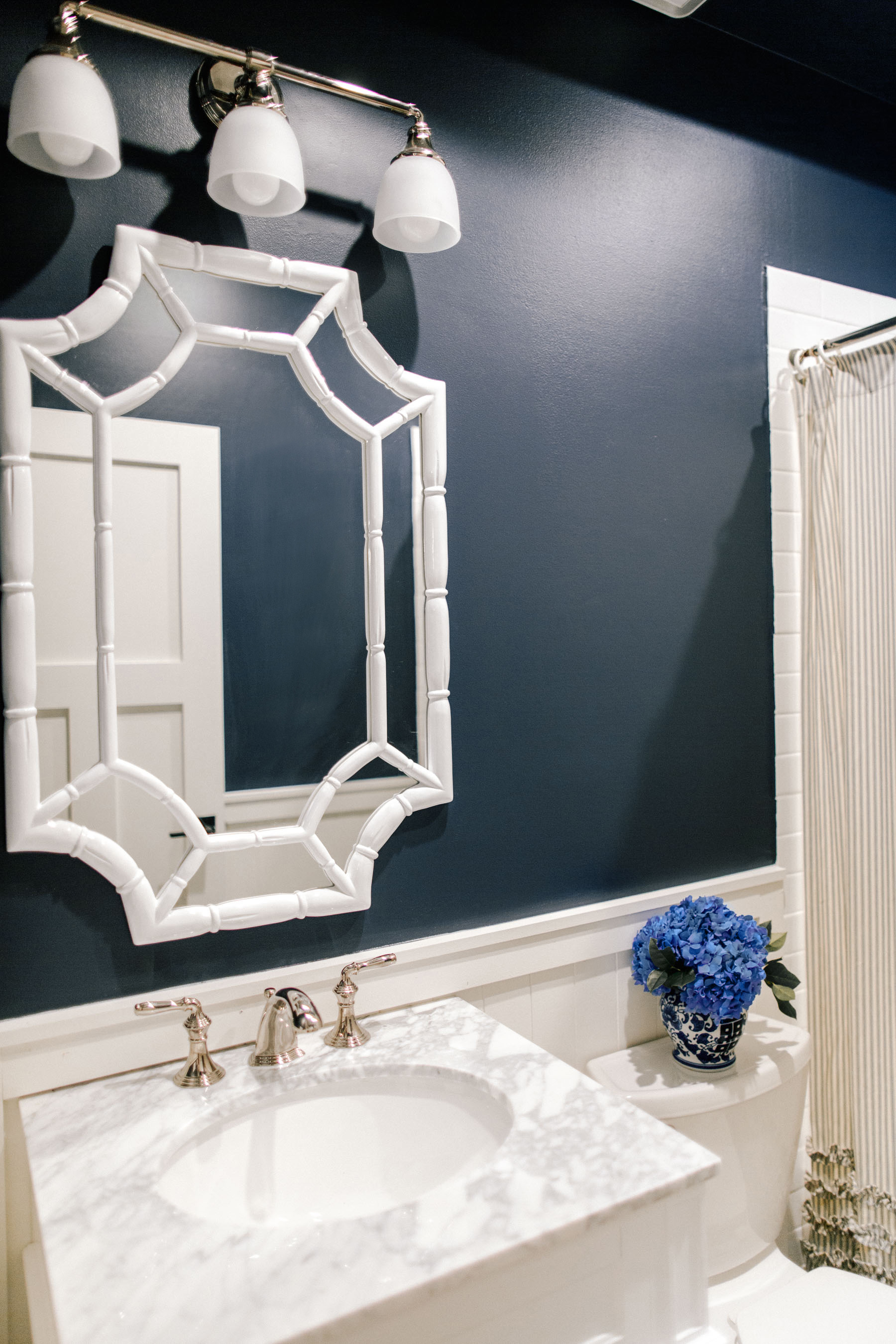 Navy Bathroom Renovation By Mitch Larkin Kelly In The City