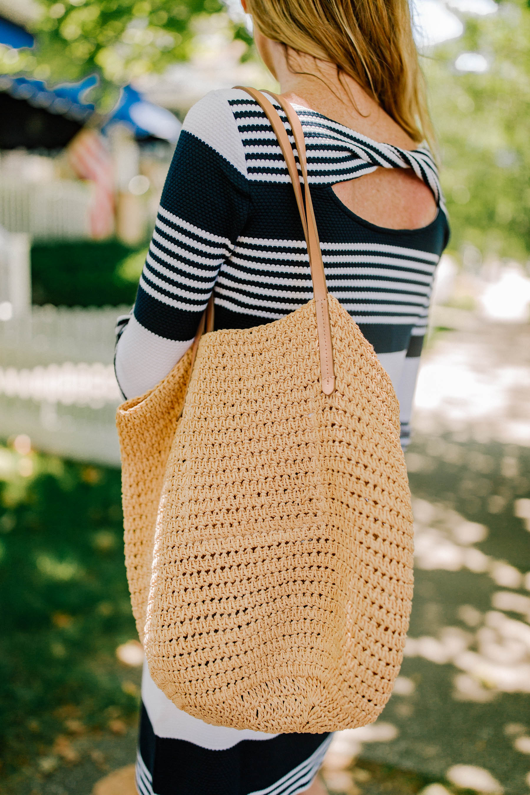 Never Version of the J.Crew Woven Tote