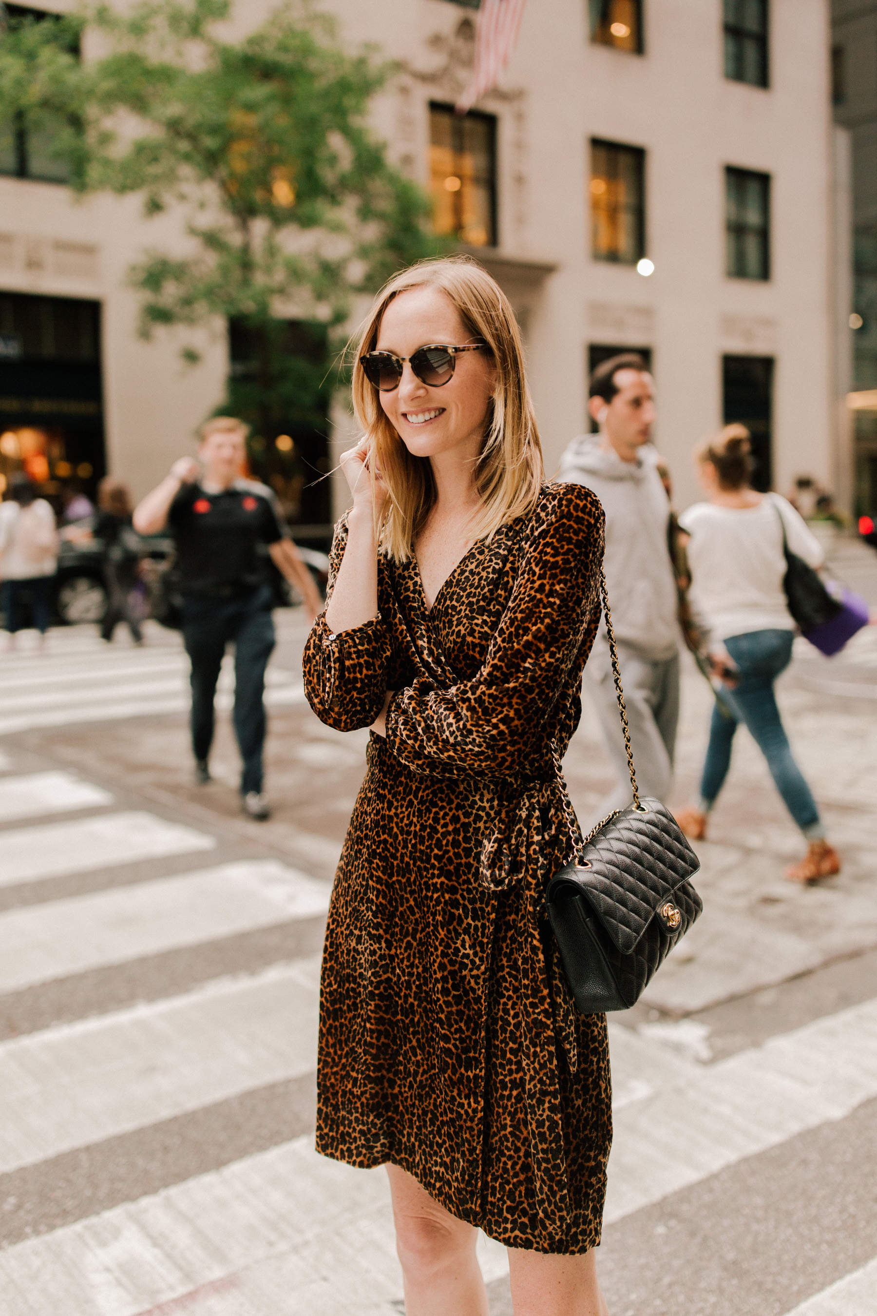 Velvet Leopard Wrap Dress - Kelly in the City
