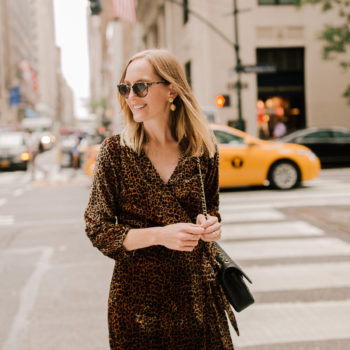 Velvet Leopard Wrap Dress