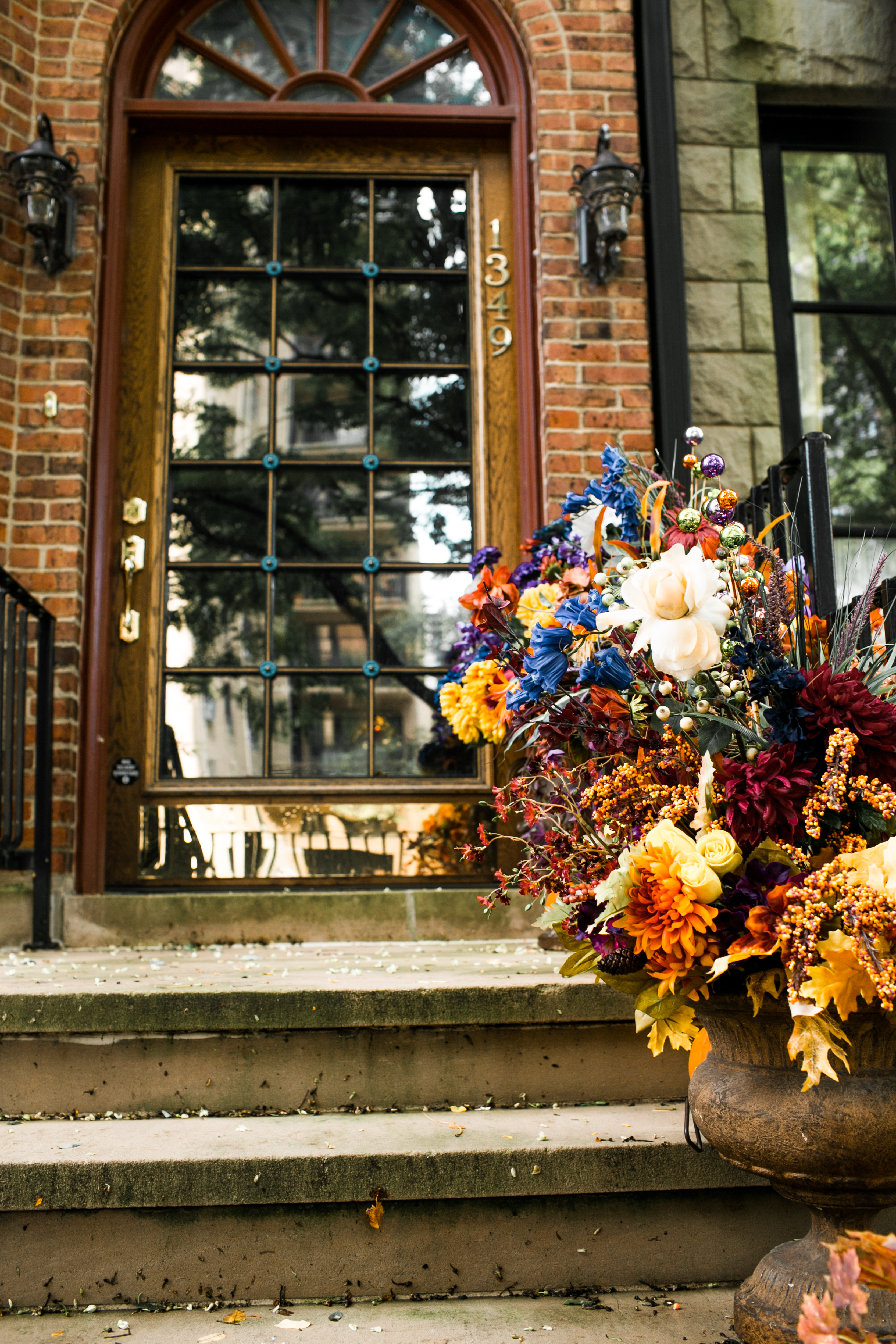 Stunning floral arrangements in the perfect fall hues.